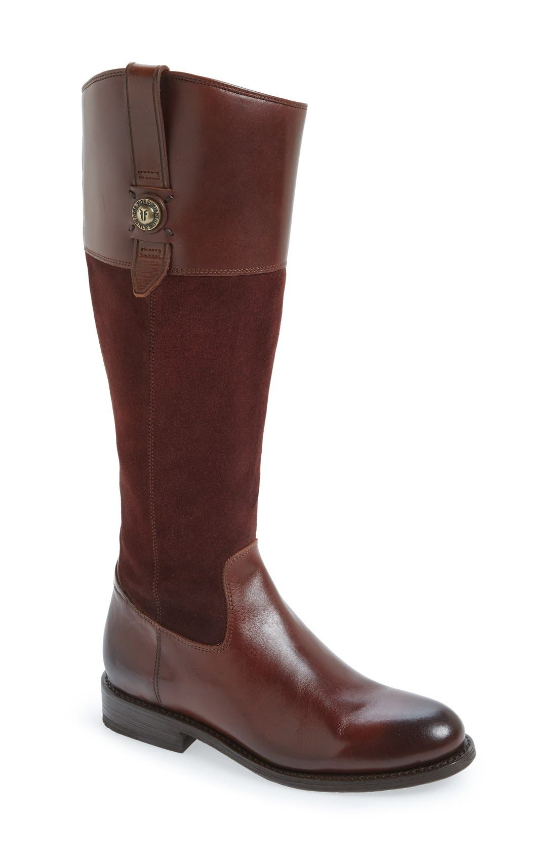 'Jayden Button' Tall Boot,                         Main,                         color, 200