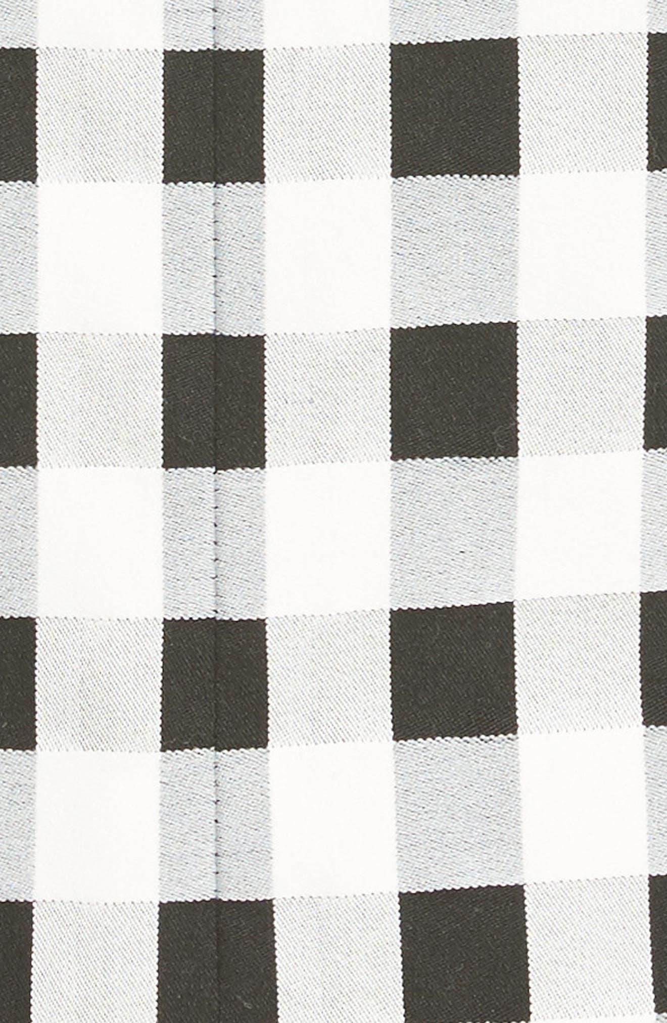 Tahoe Gingham Dress,                             Alternate thumbnail 5, color,                             BLACK/ WHITE