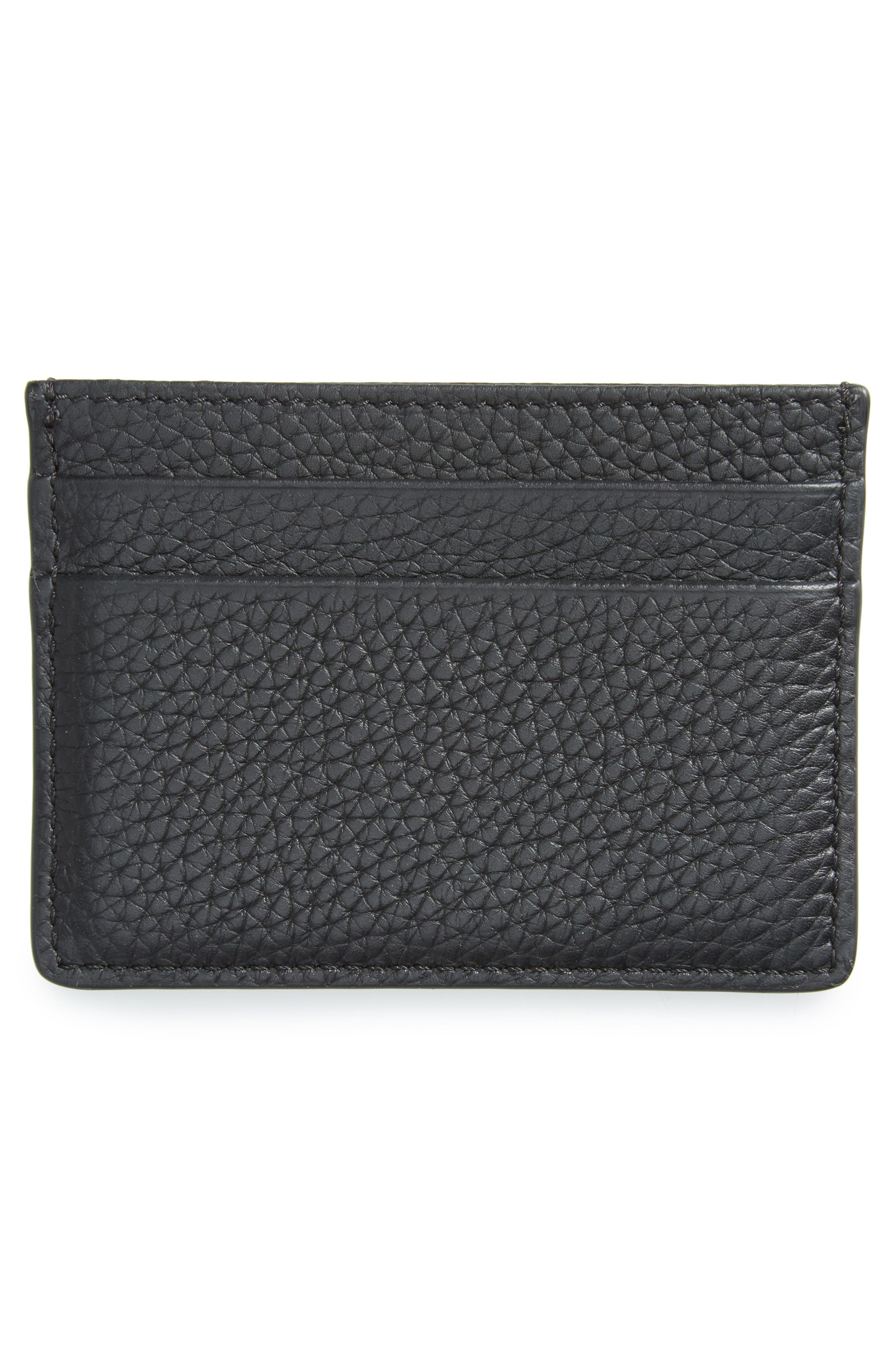 Sandon Leather Card Case,                             Alternate thumbnail 2, color,                             001