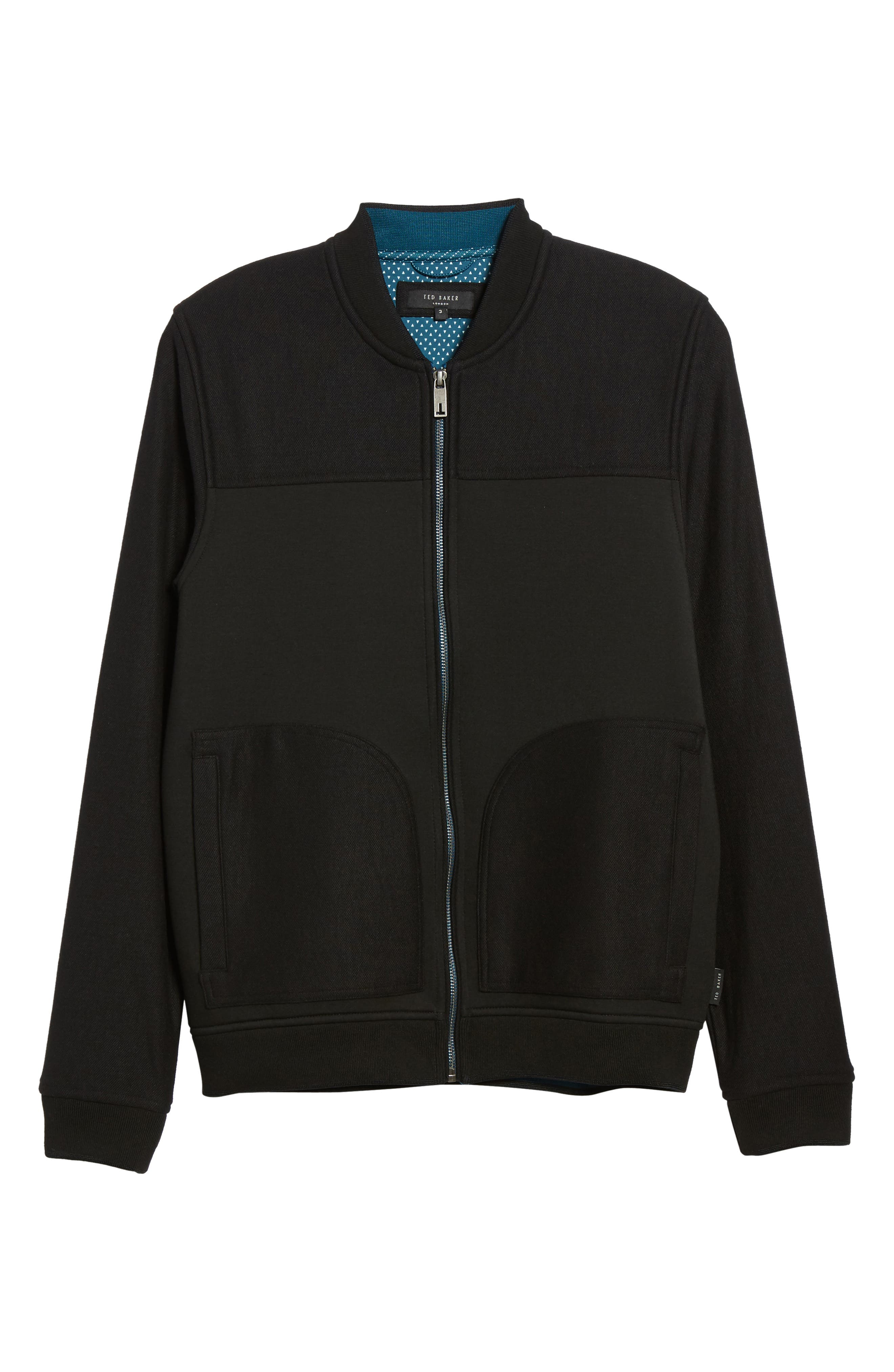 Outme Trim Textured Bomber,                             Alternate thumbnail 6, color,                             001