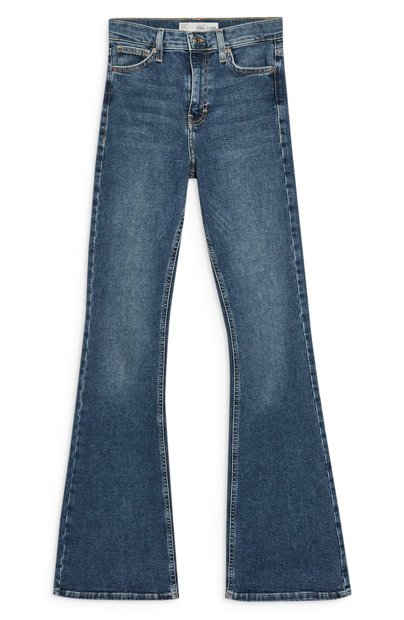 Jamie Flare Hem Jeans,                             Alternate thumbnail 3, color,                             420