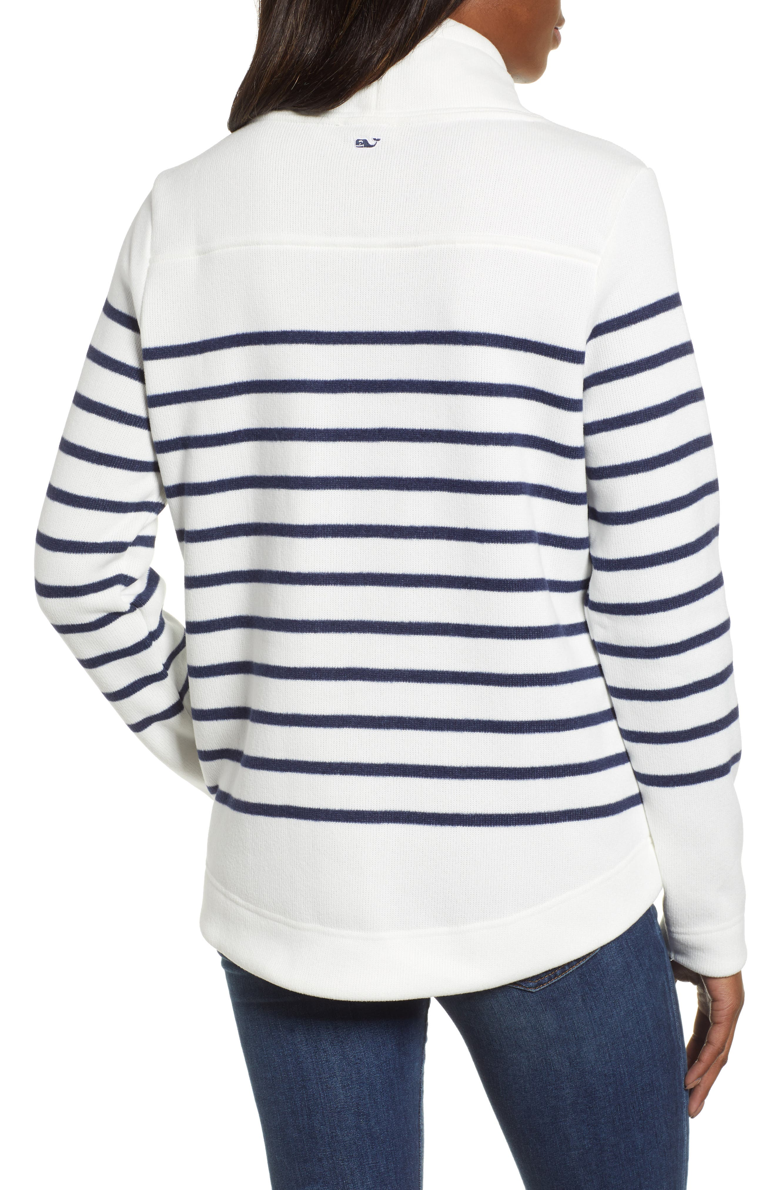 Funnel Neck Stripe Sweater,                             Alternate thumbnail 2, color,                             111