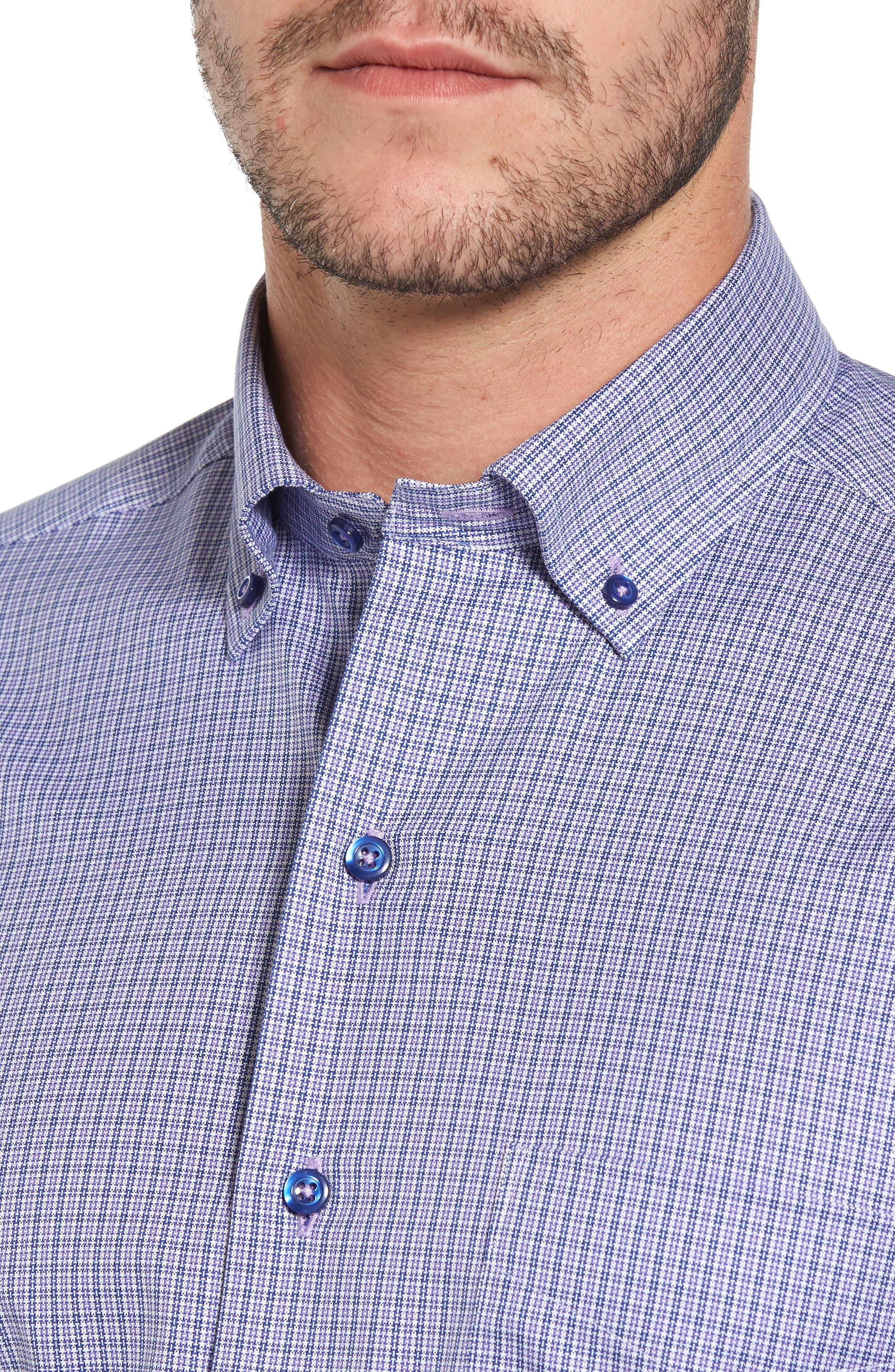 Microcheck Sport Shirt,                             Alternate thumbnail 4, color,                             431