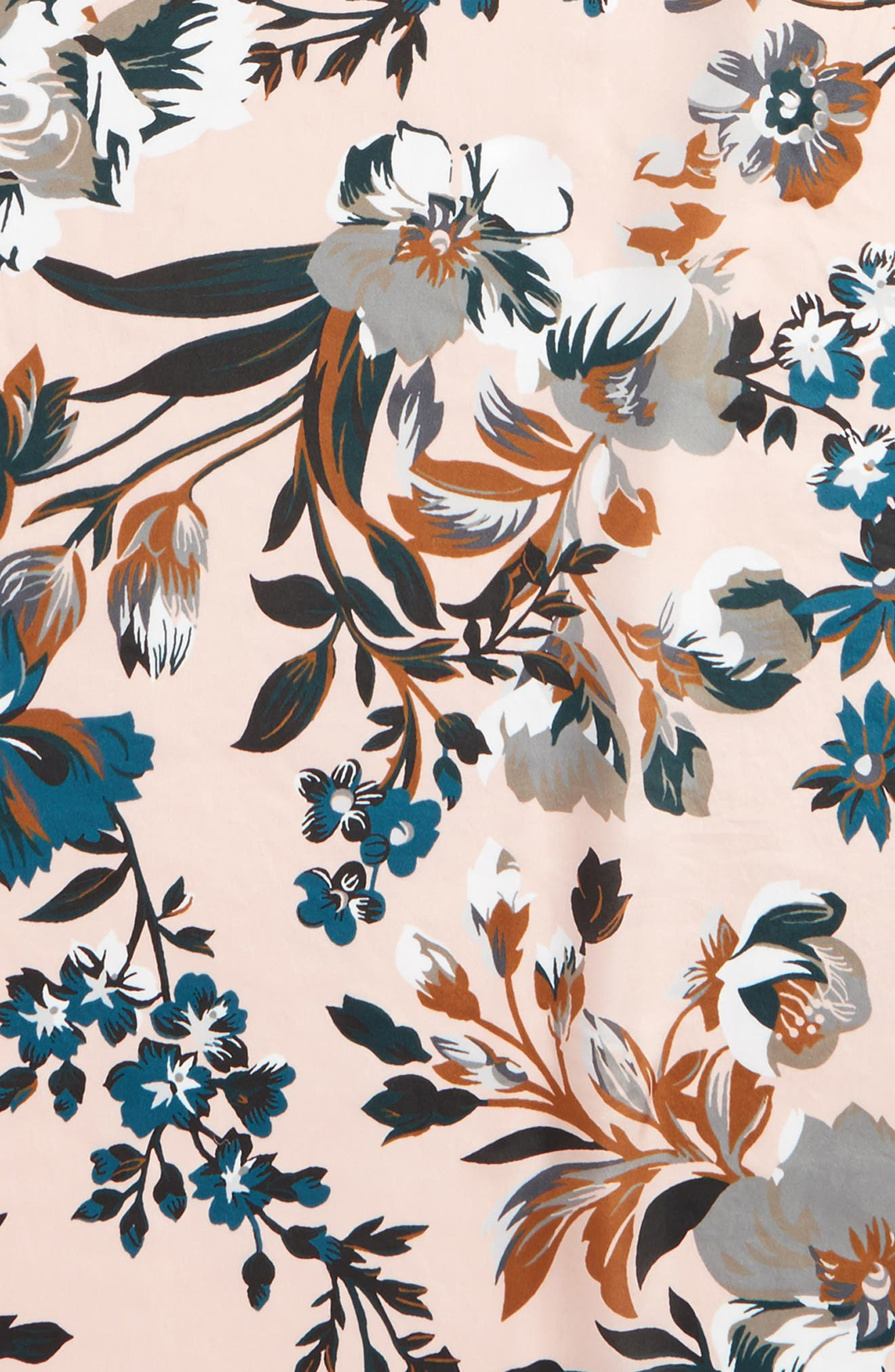 Highgate Floral Square Silk Scarf,                             Alternate thumbnail 4, color,                             110