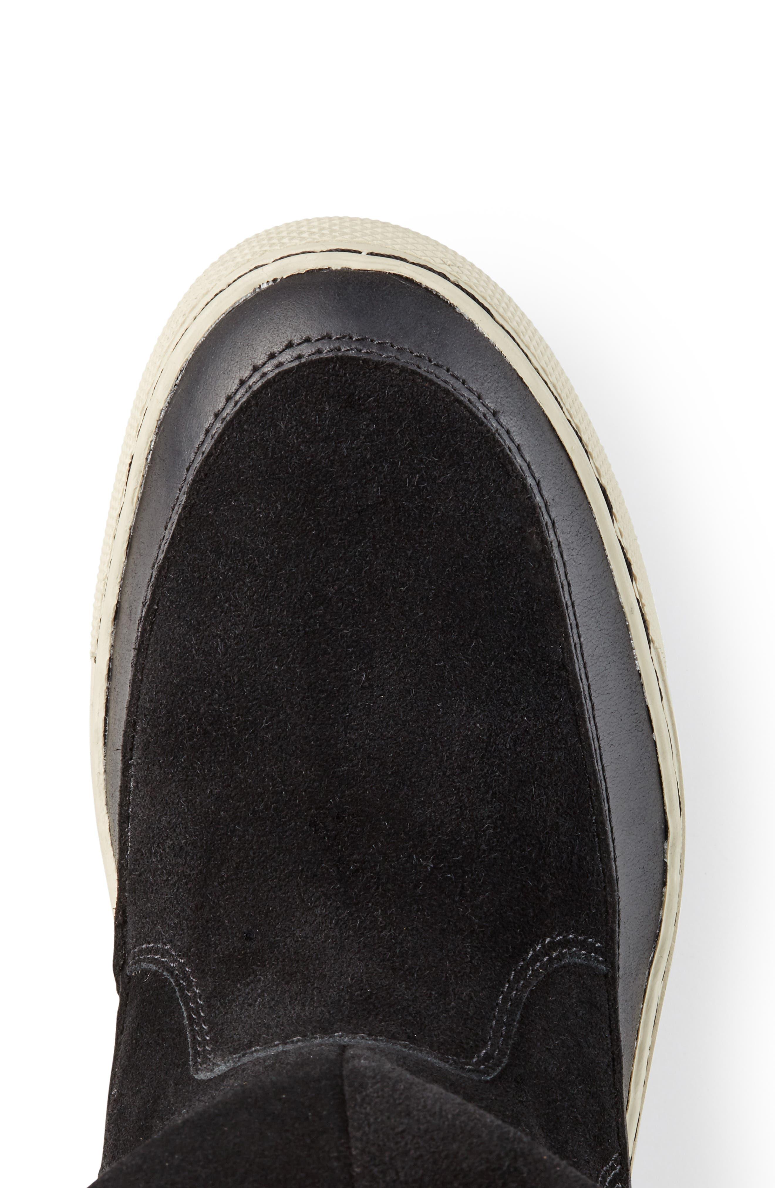 Dresden Waterproof Sneaker Boot with Faux Fur Trim,                             Alternate thumbnail 5, color,                             001