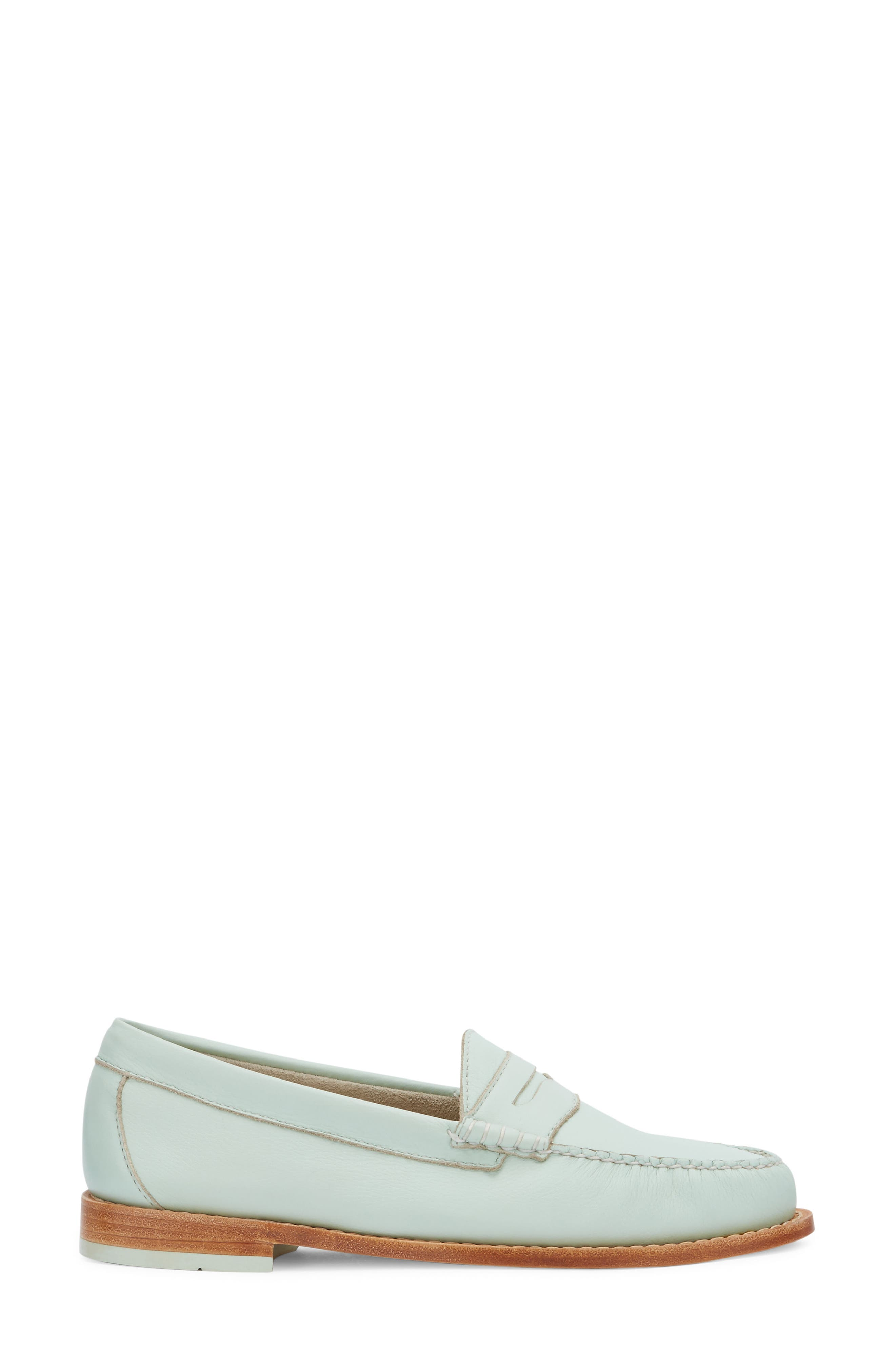 'Whitney' Loafer,                             Alternate thumbnail 3, color,                             MINT GREEN LEATHER