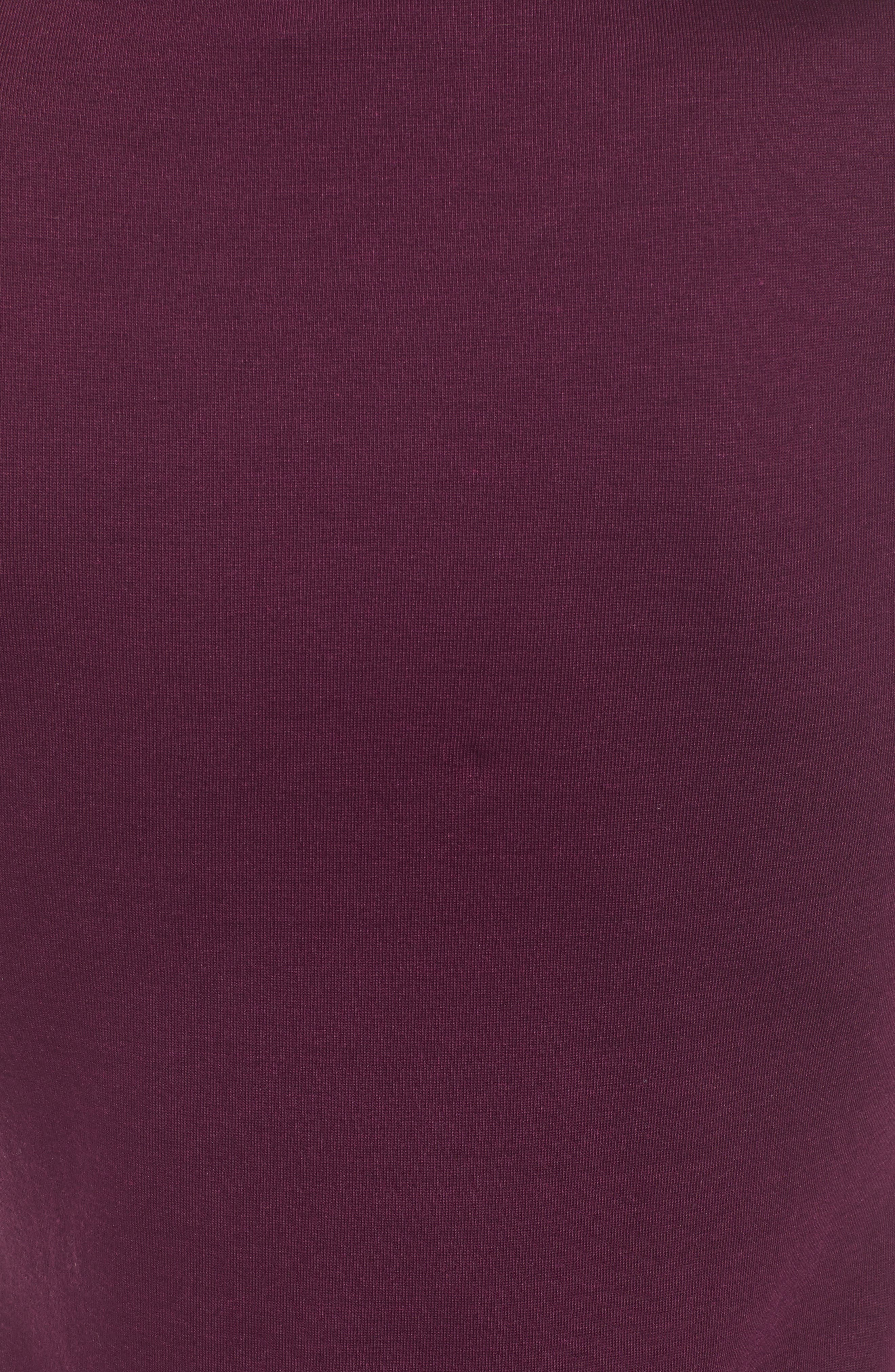 Twist Front Dress,                             Alternate thumbnail 6, color,                             PURPLE POTENT