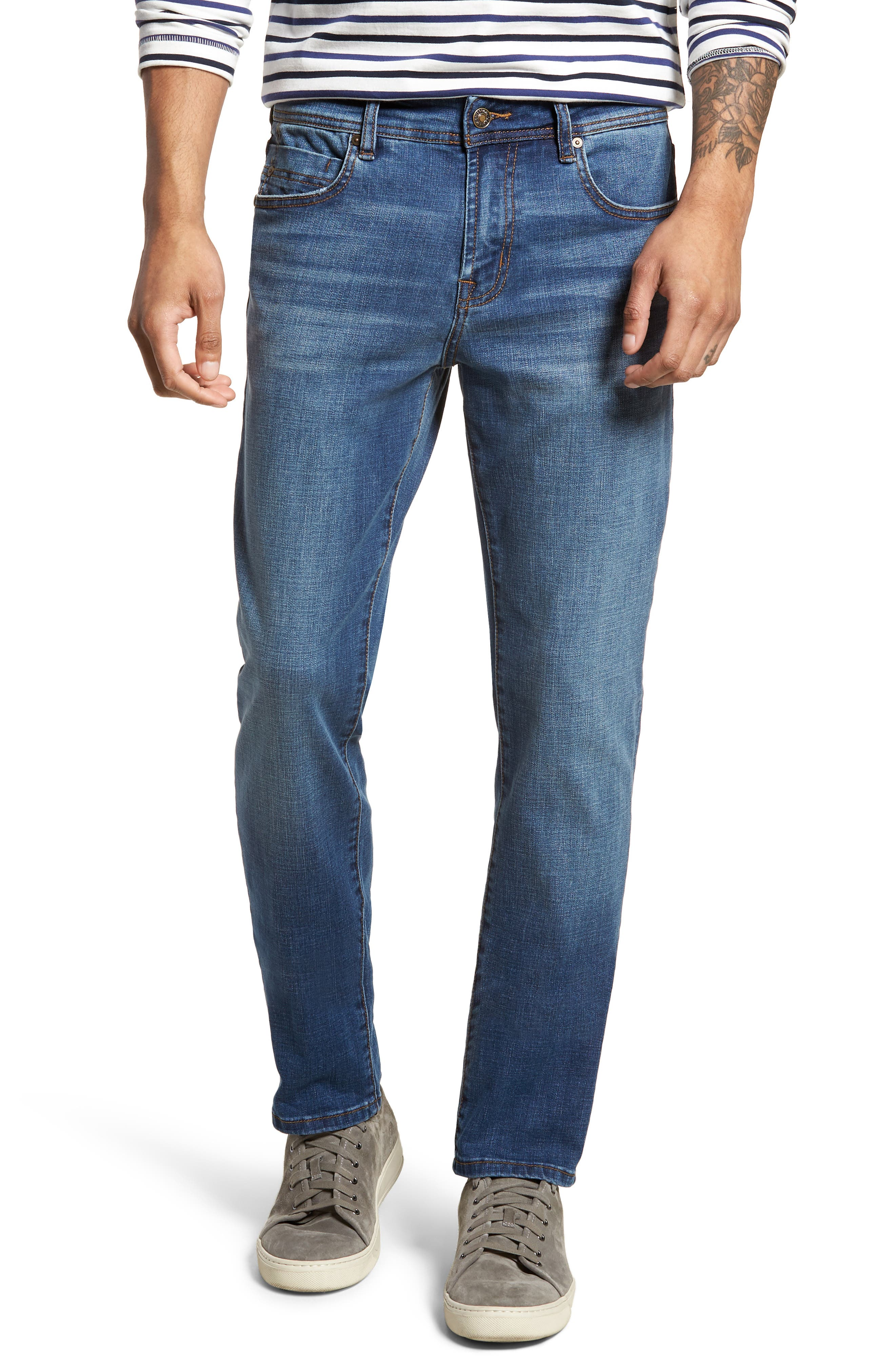 Jeans Co. Kingston Slim Straight Leg Jeans,                         Main,                         color, HIGHLANDER MID