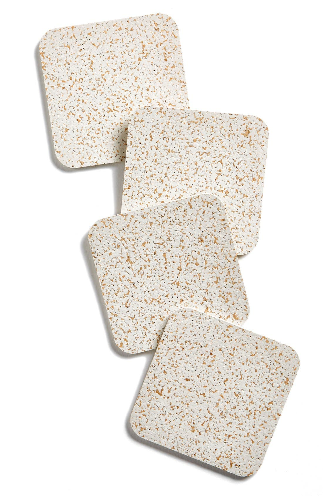 MOST MODEST Cork & Rubber Coasters, Main, color, 100