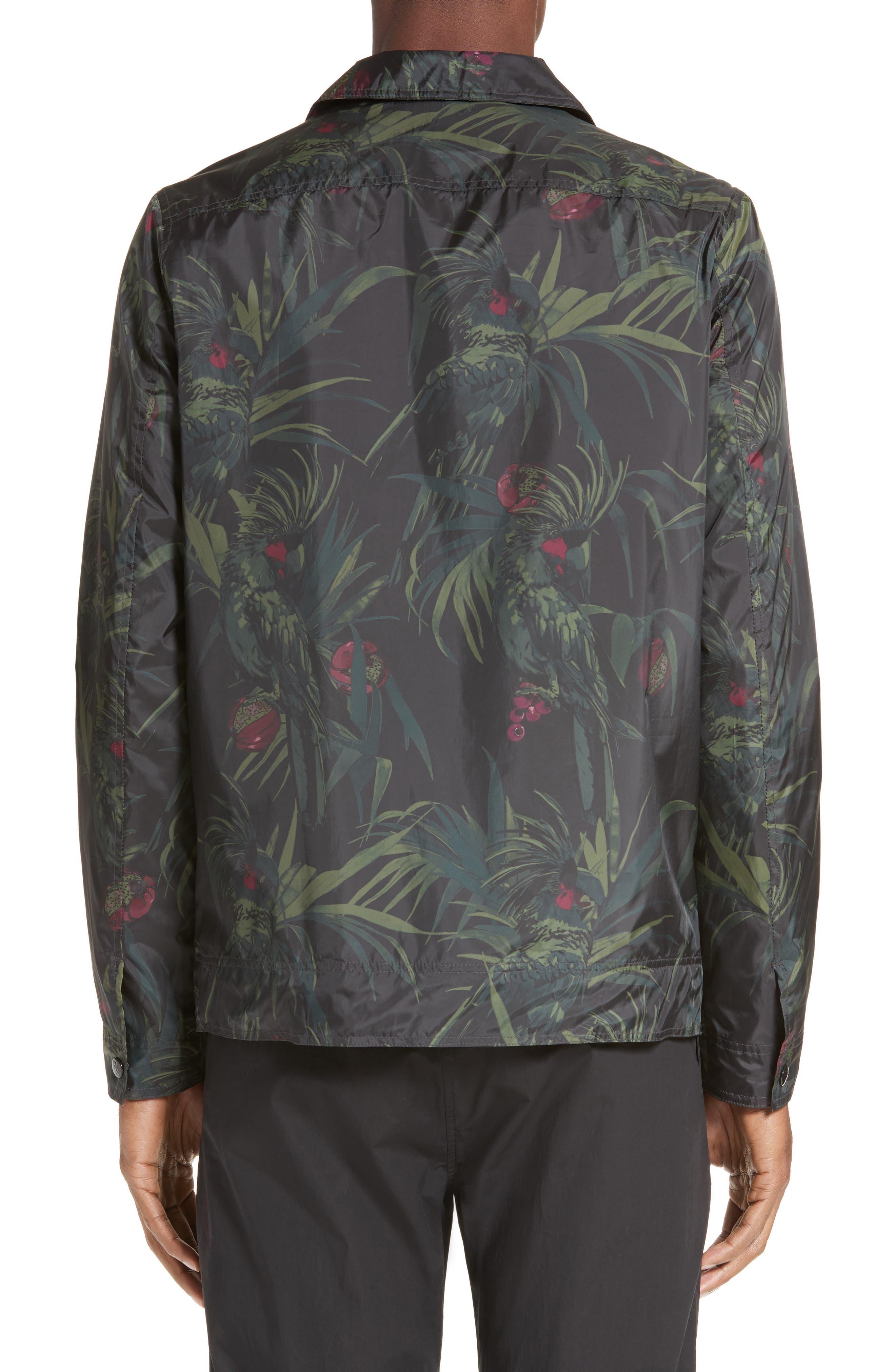 Dark Tropical Woven Work Jacket,                             Alternate thumbnail 3, color,                             005