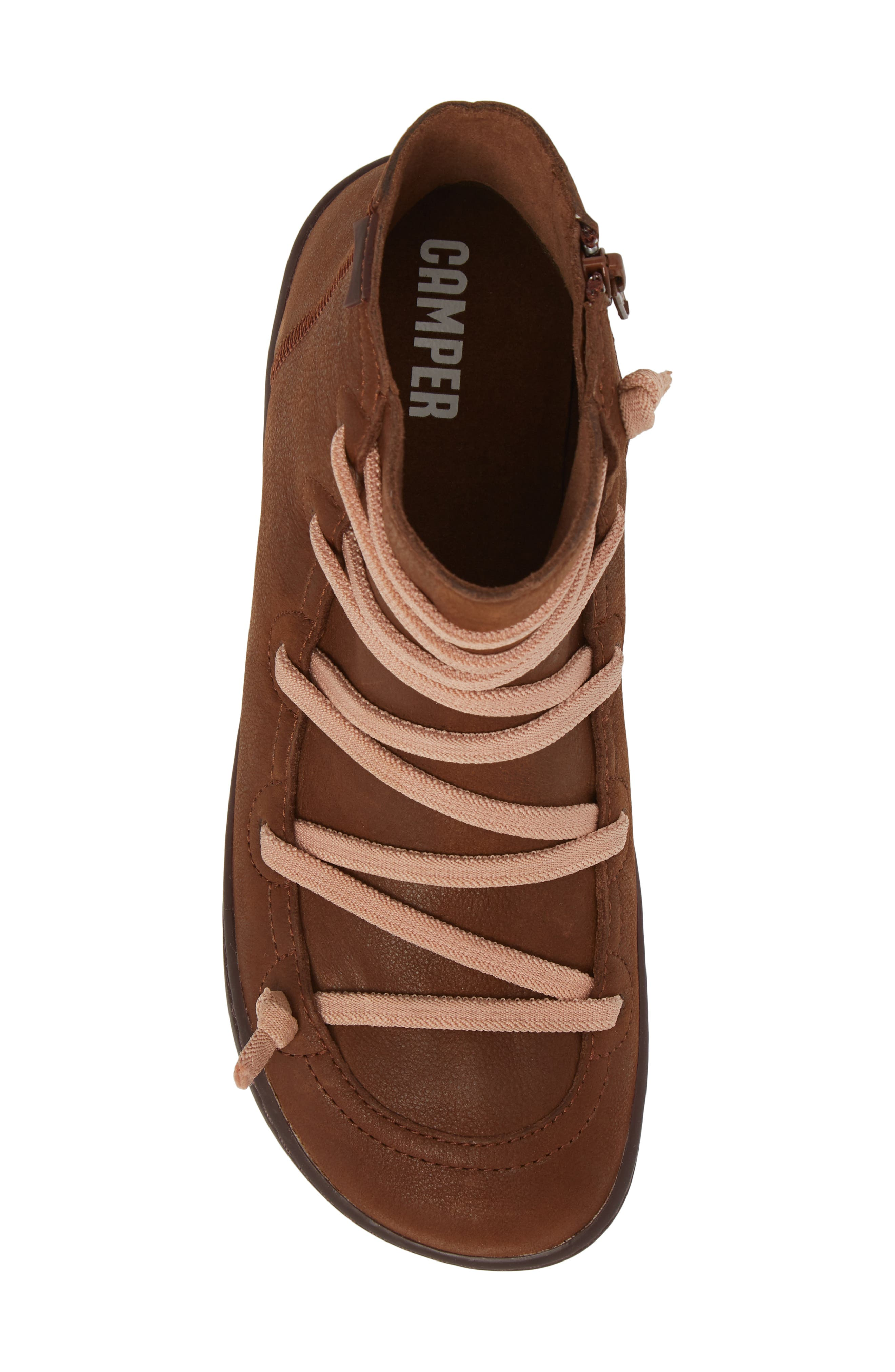 CAMPER,                             Peu Cami Bootie,                             Alternate thumbnail 5, color,                             MEDIUM BROWN LEATHER