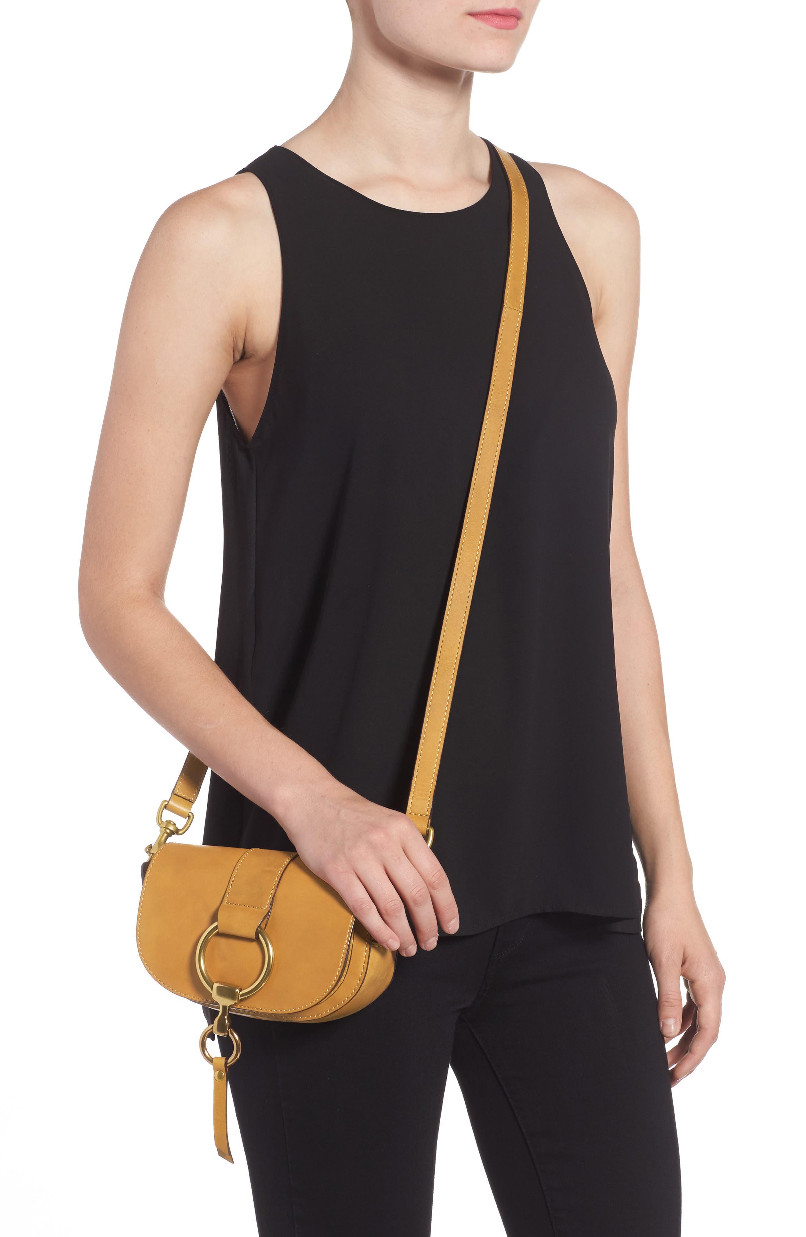 Mini Ilana Harness Leather Saddle Bag,                             Alternate thumbnail 4, color,