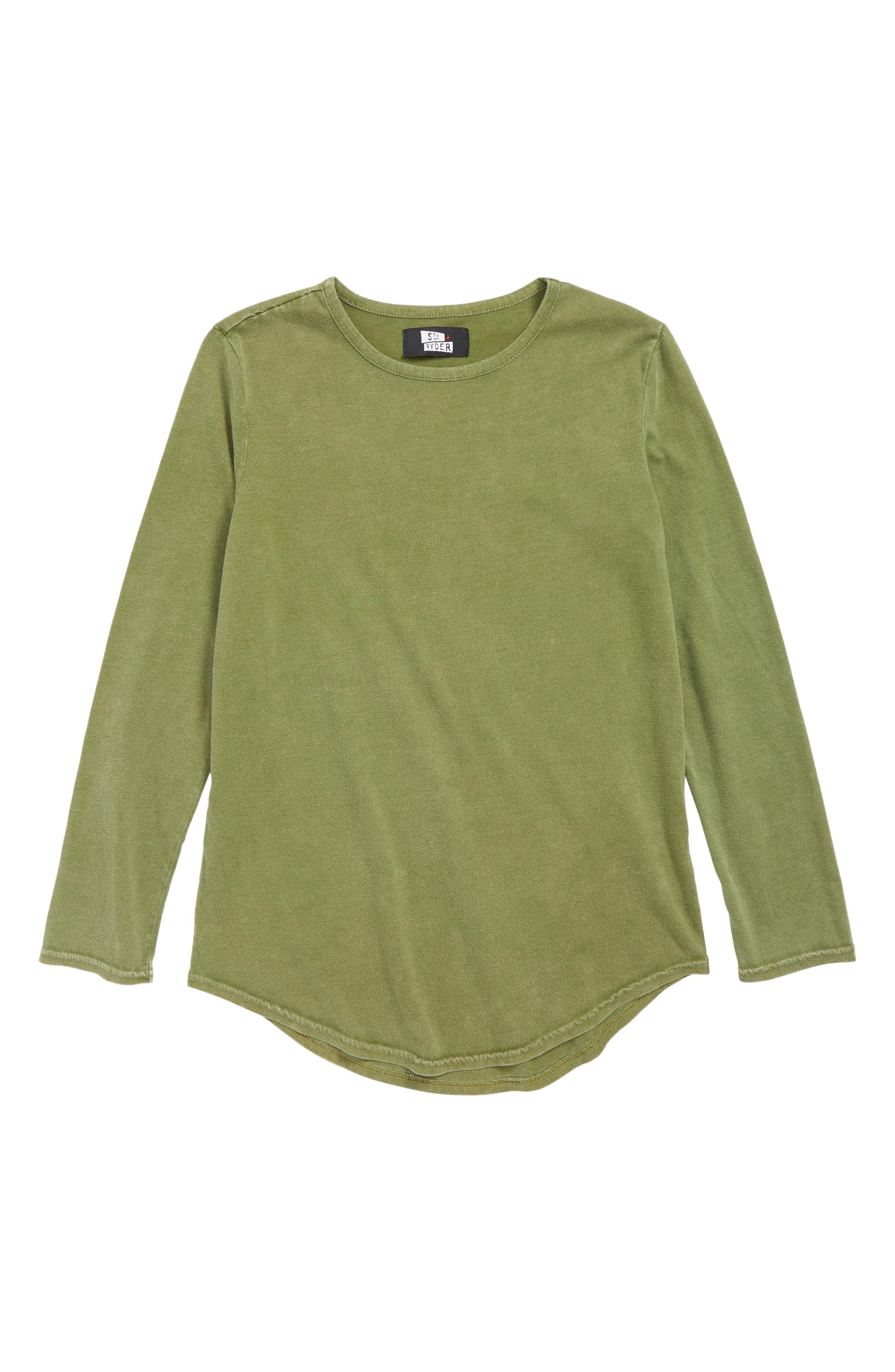 Snow Wash T-Shirt,                             Main thumbnail 1, color,                             OLIVE