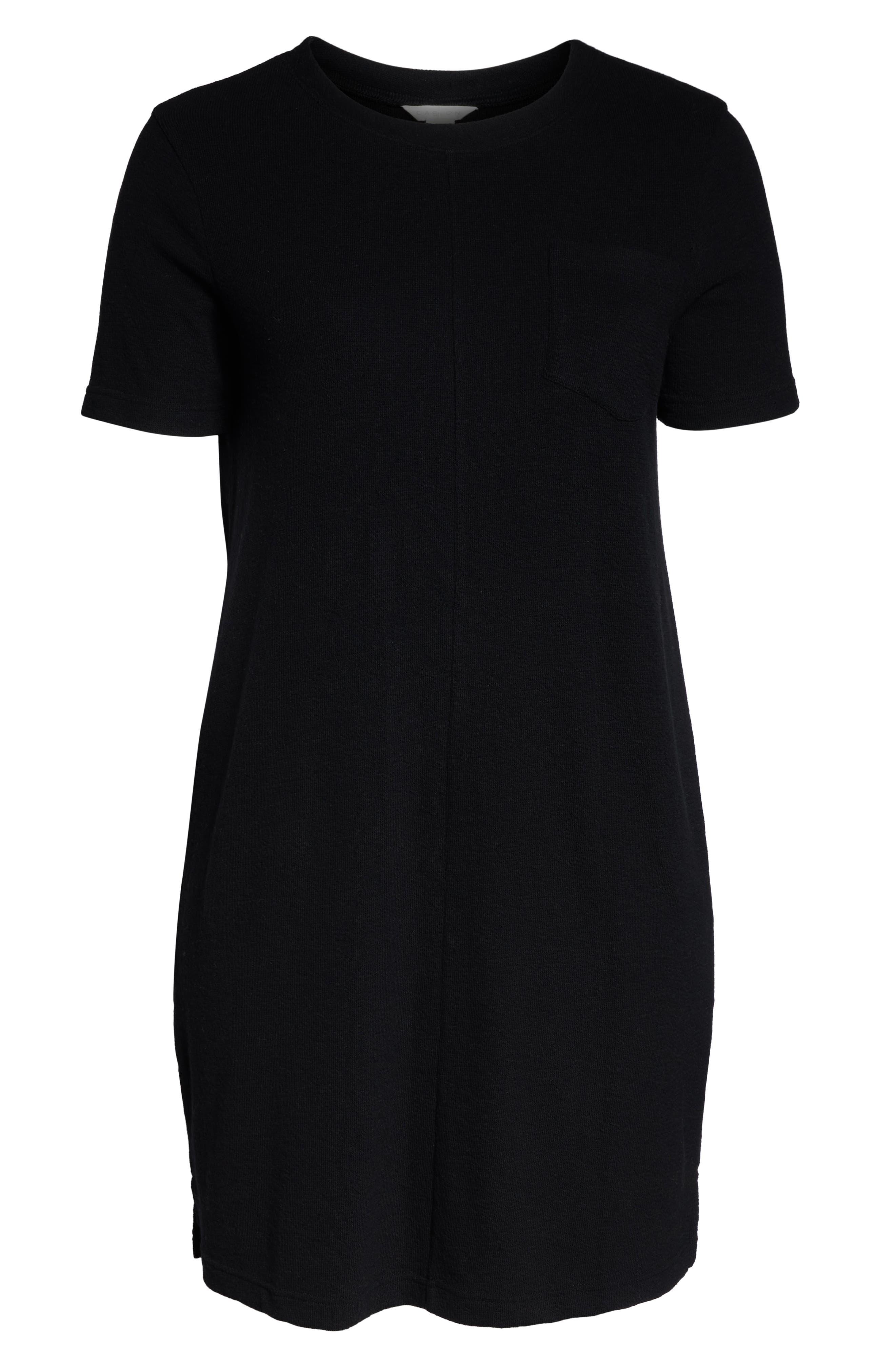 CASLON<SUP>®</SUP>,                             T-Shirt Dress,                             Alternate thumbnail 7, color,                             BLACK