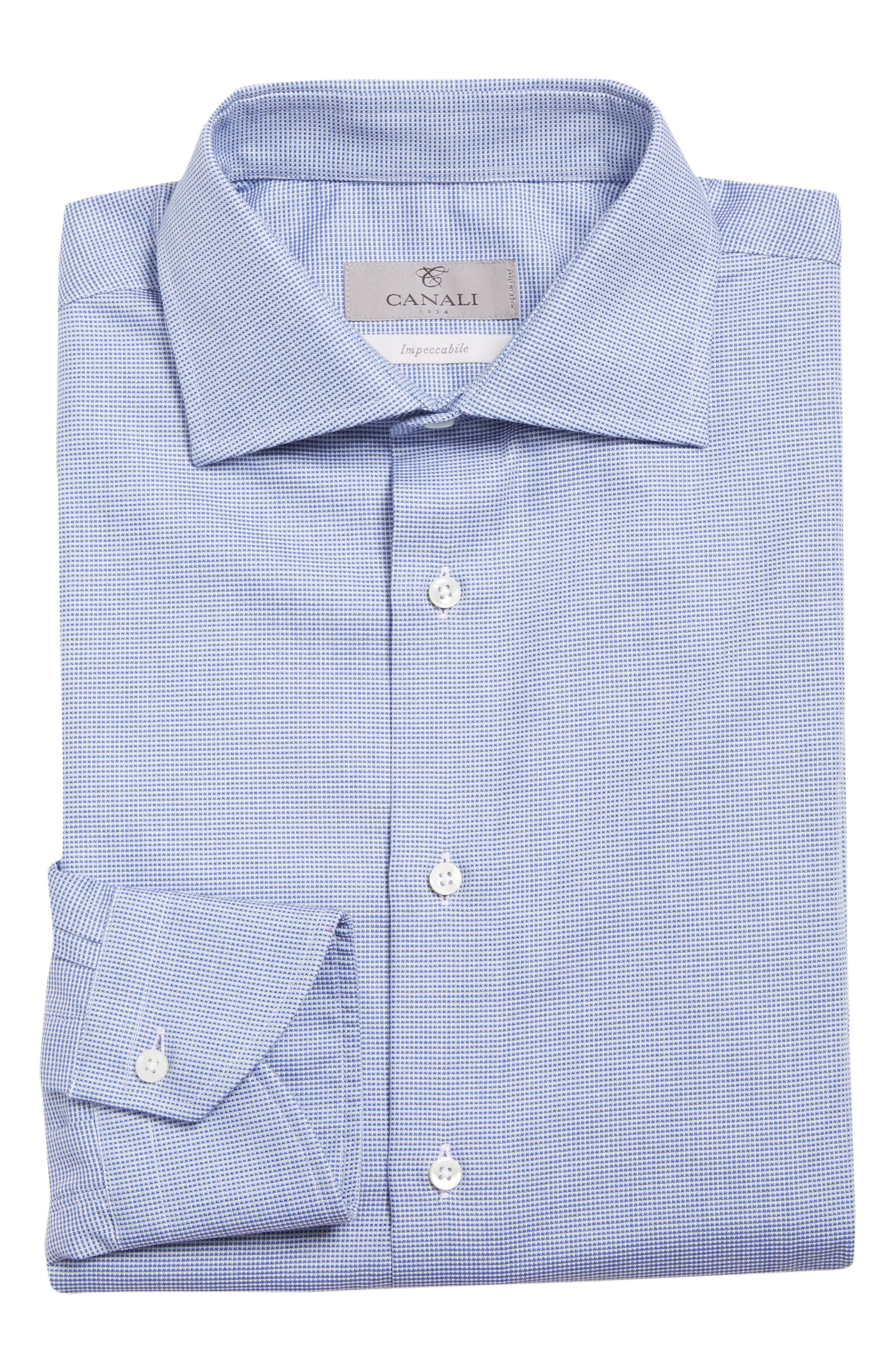 CANALI,                             Regular Fit Solid Dress Shirt,                             Alternate thumbnail 5, color,                             401