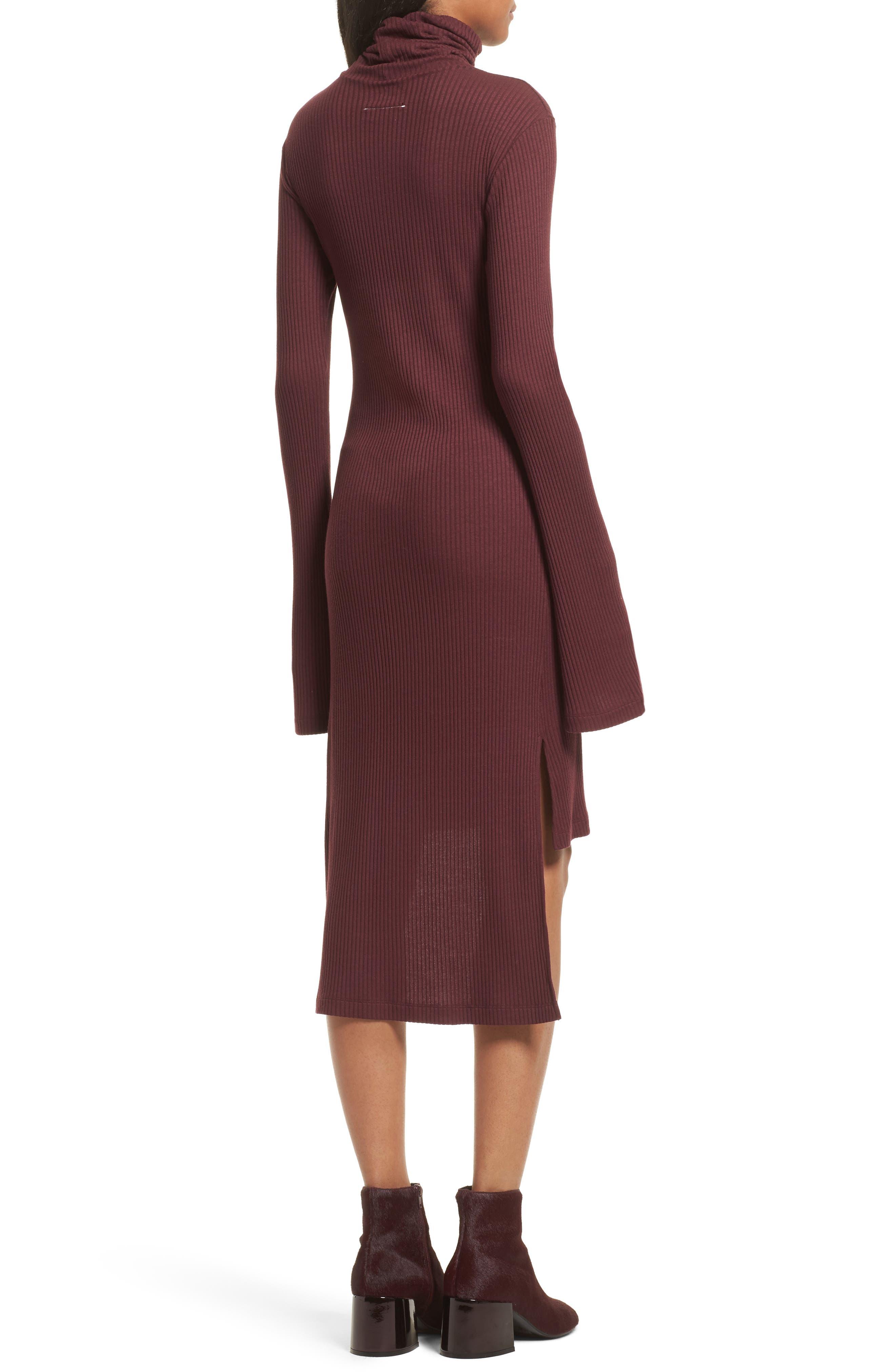 Step Hem Turtleneck Dress,                             Alternate thumbnail 2, color,                             931