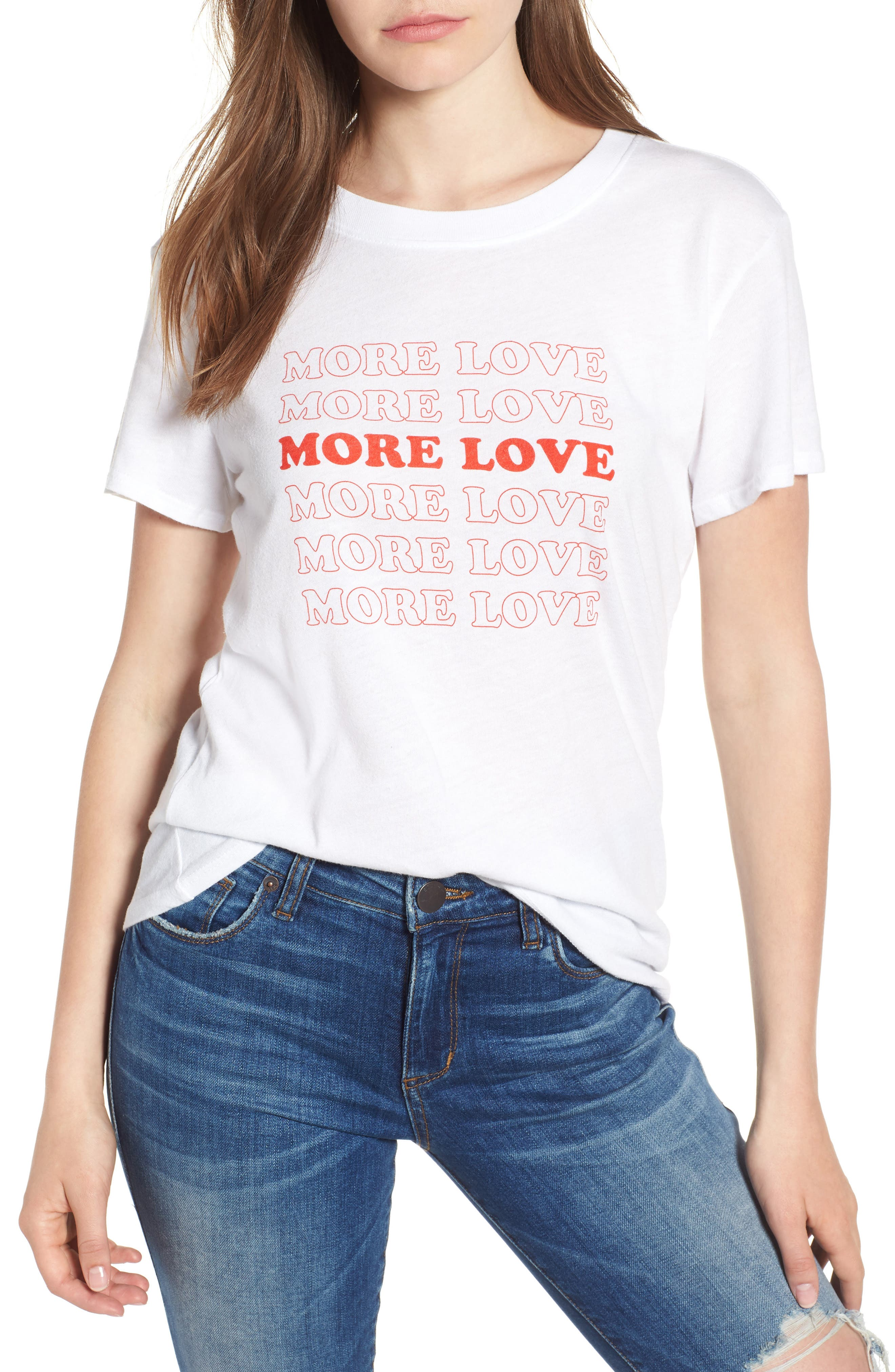 More Love Slouched Tee,                             Main thumbnail 1, color,                             100