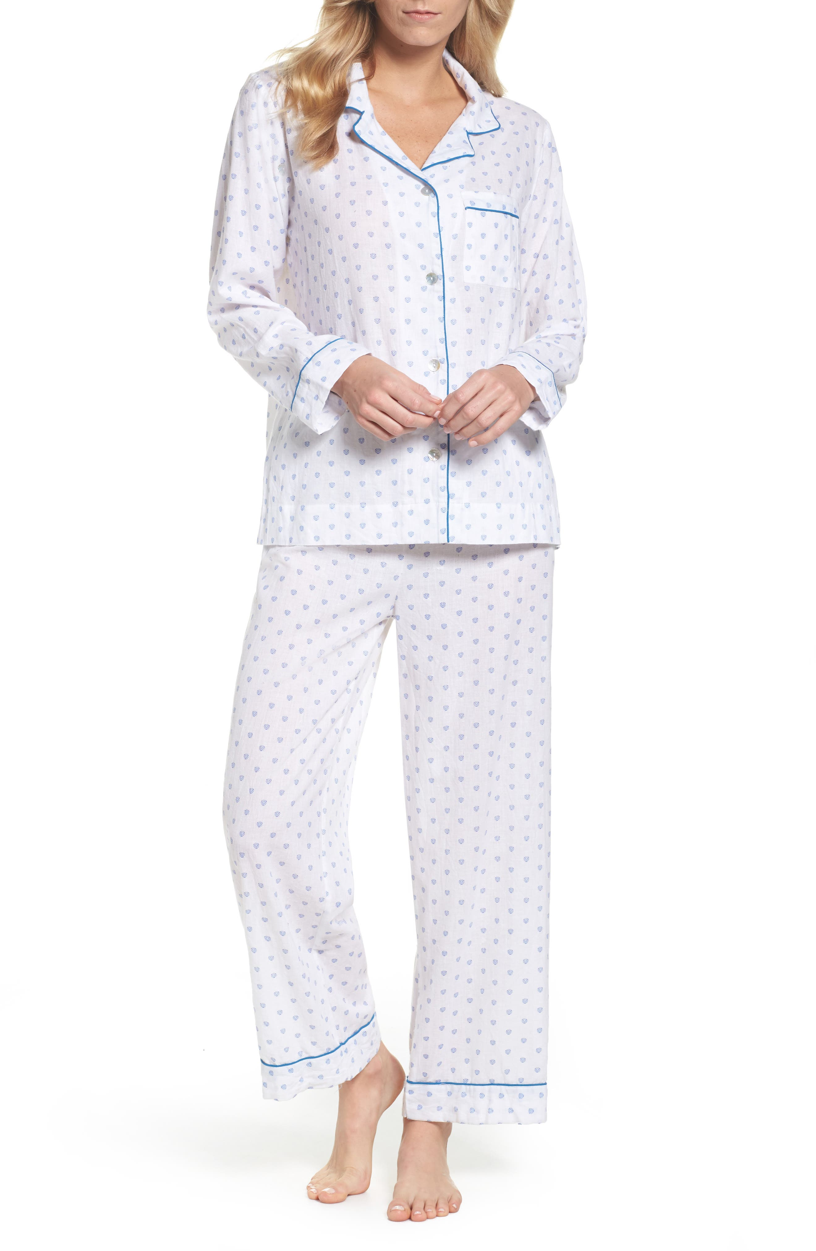 Washed Cotton Pajamas,                         Main,                         color, 100
