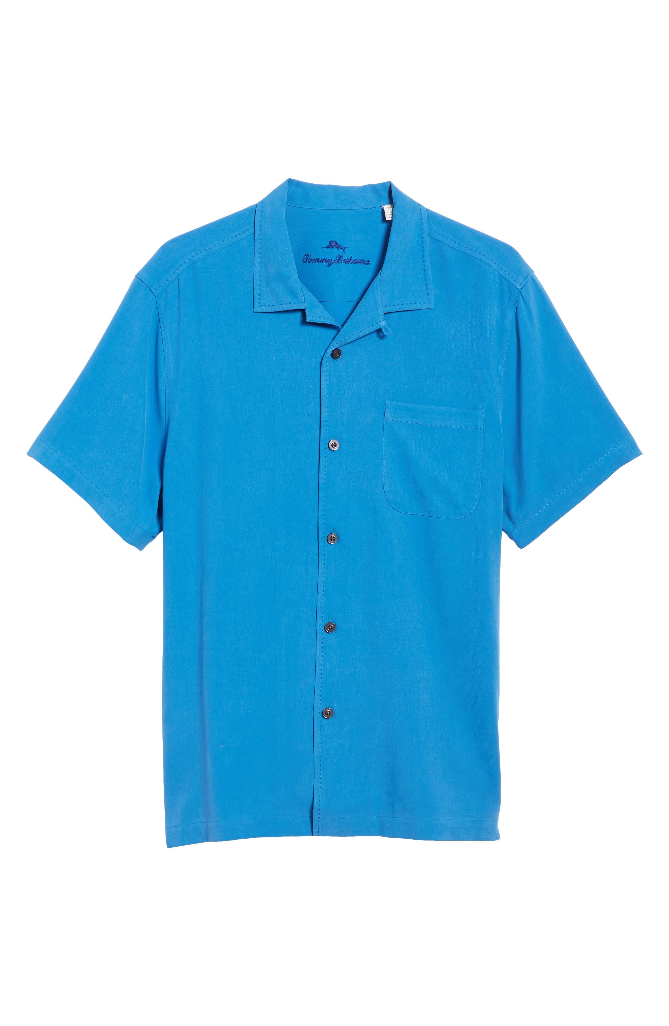 Catalina Twill Sport Shirt,                             Alternate thumbnail 6, color,                             NAVY