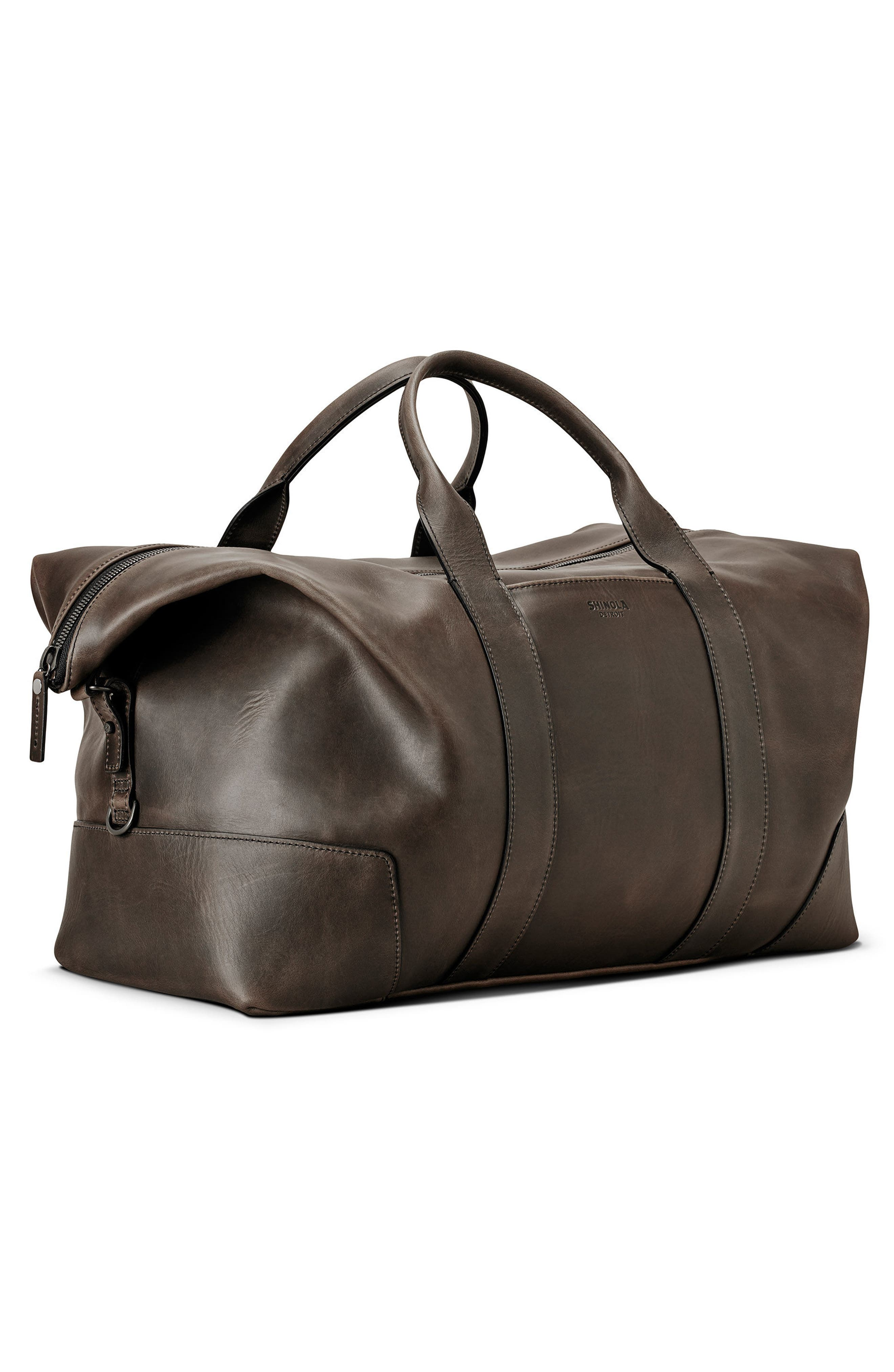 Madone Leather Carryall Bag,                             Alternate thumbnail 4, color,                             018