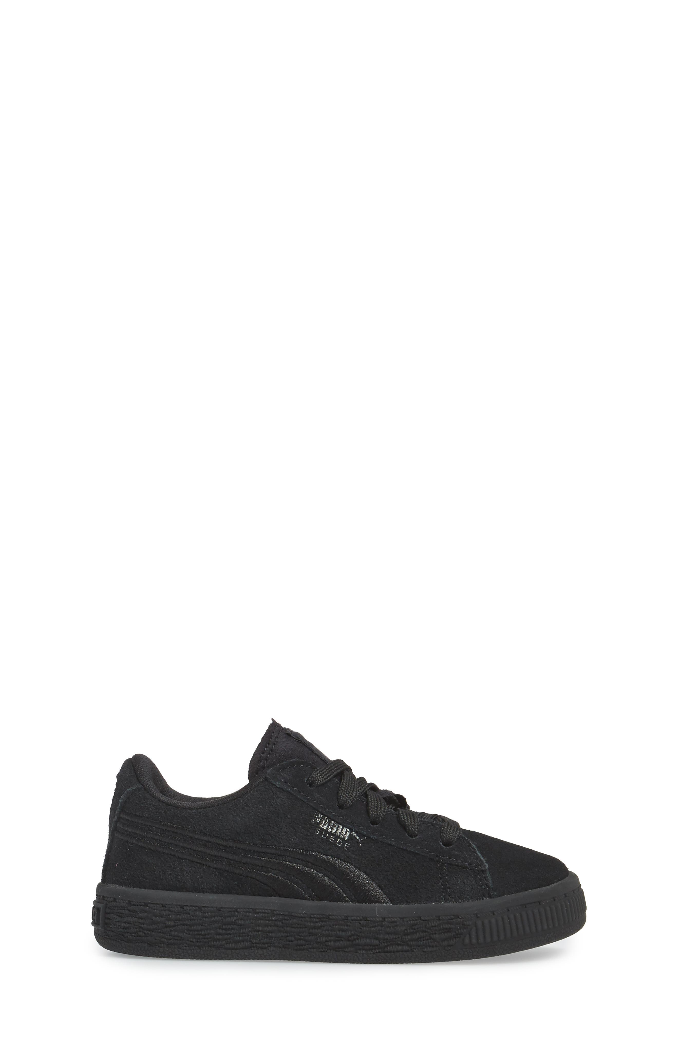 Suede Classic Sneaker,                             Alternate thumbnail 3, color,                             001