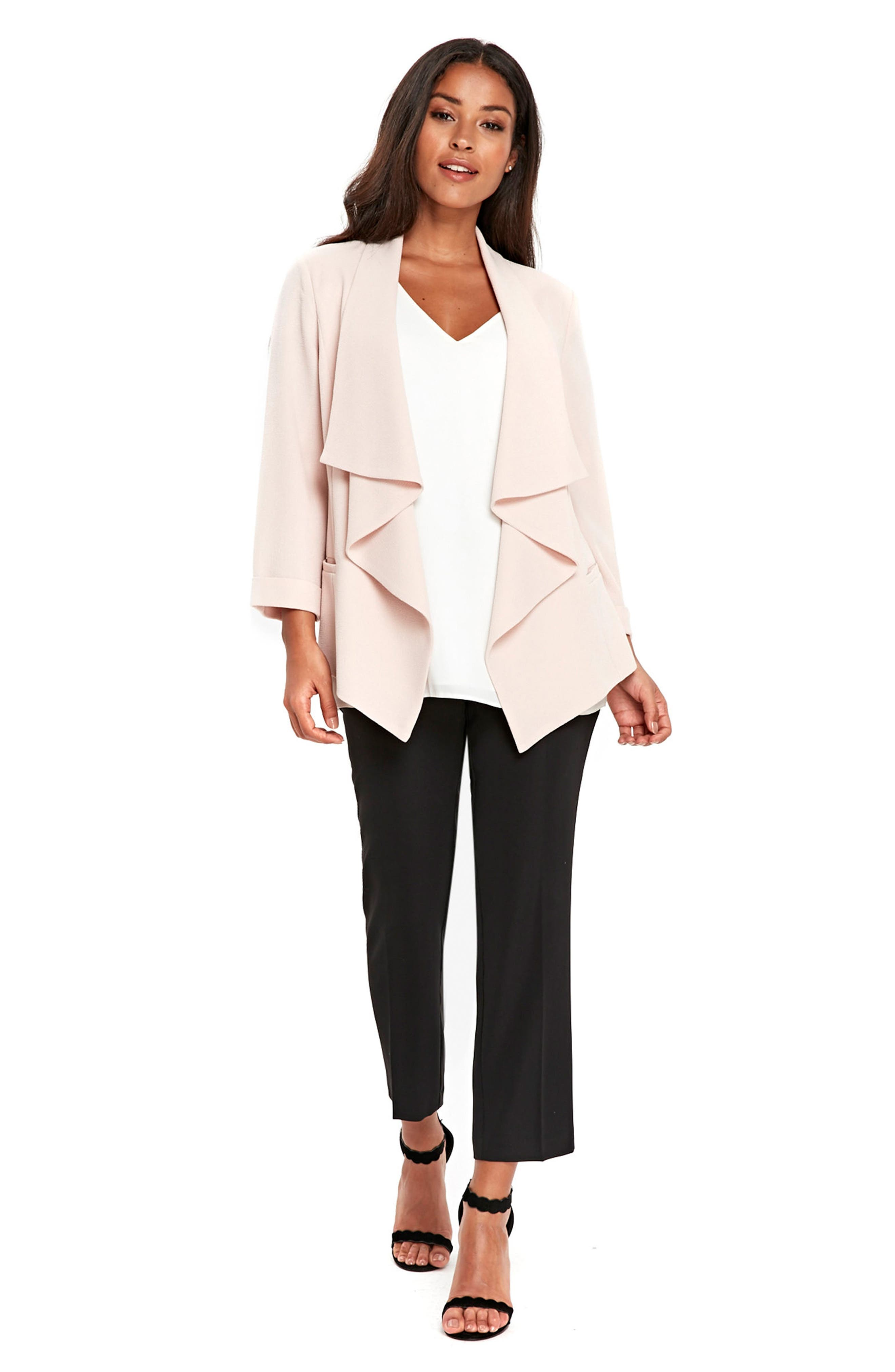 Drape Front Waterfall Jacket,                             Alternate thumbnail 5, color,                             950