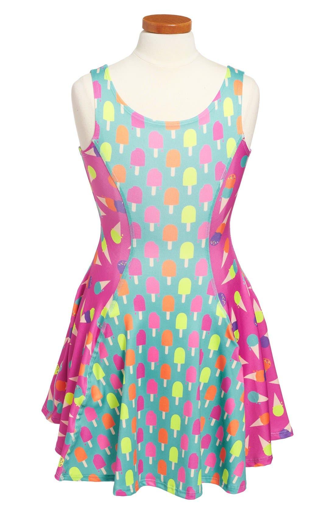 Flow Mixed Print Dress,                             Main thumbnail 1, color,