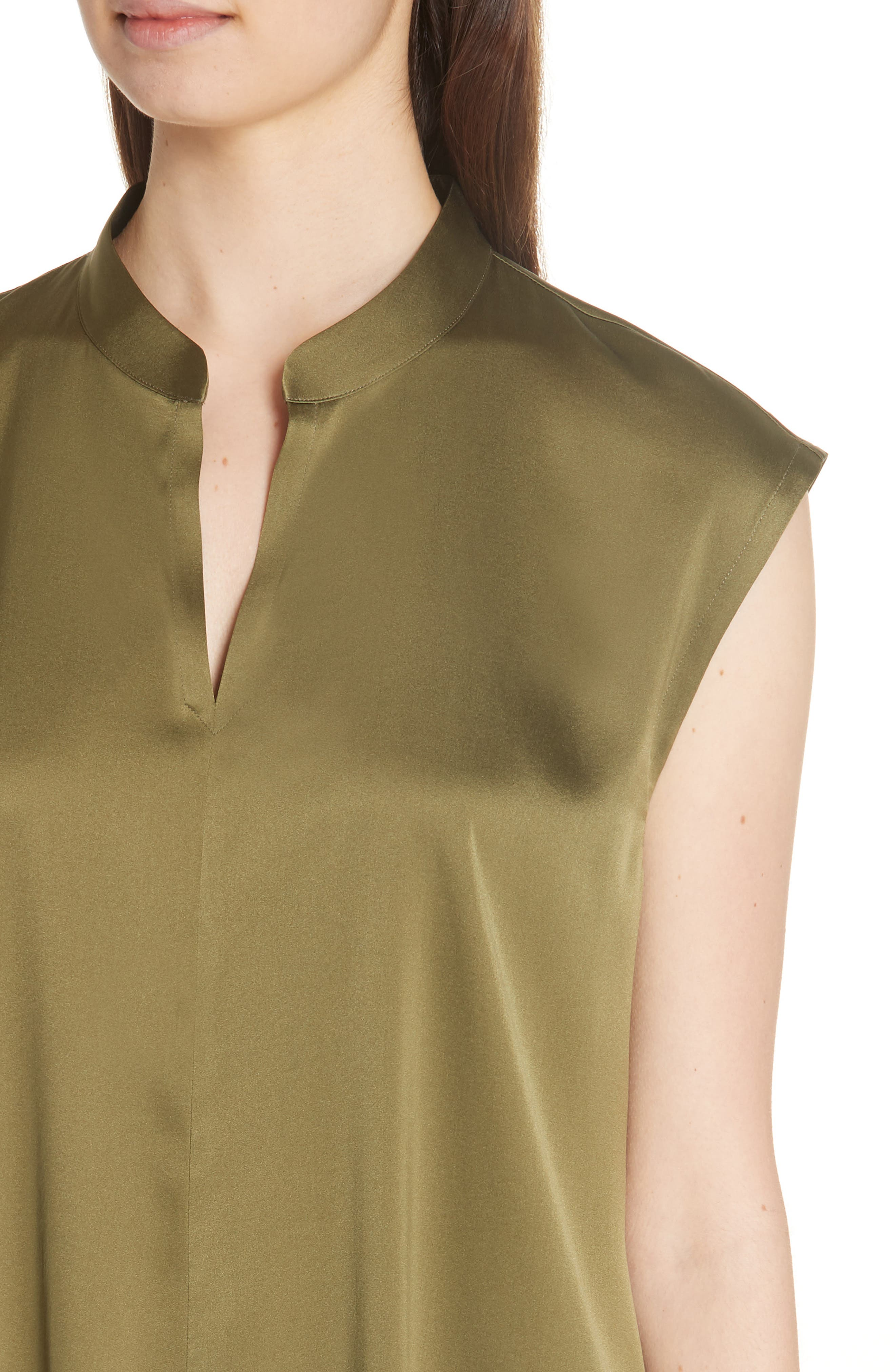 Stretch Silk Top,                             Alternate thumbnail 4, color,                             301