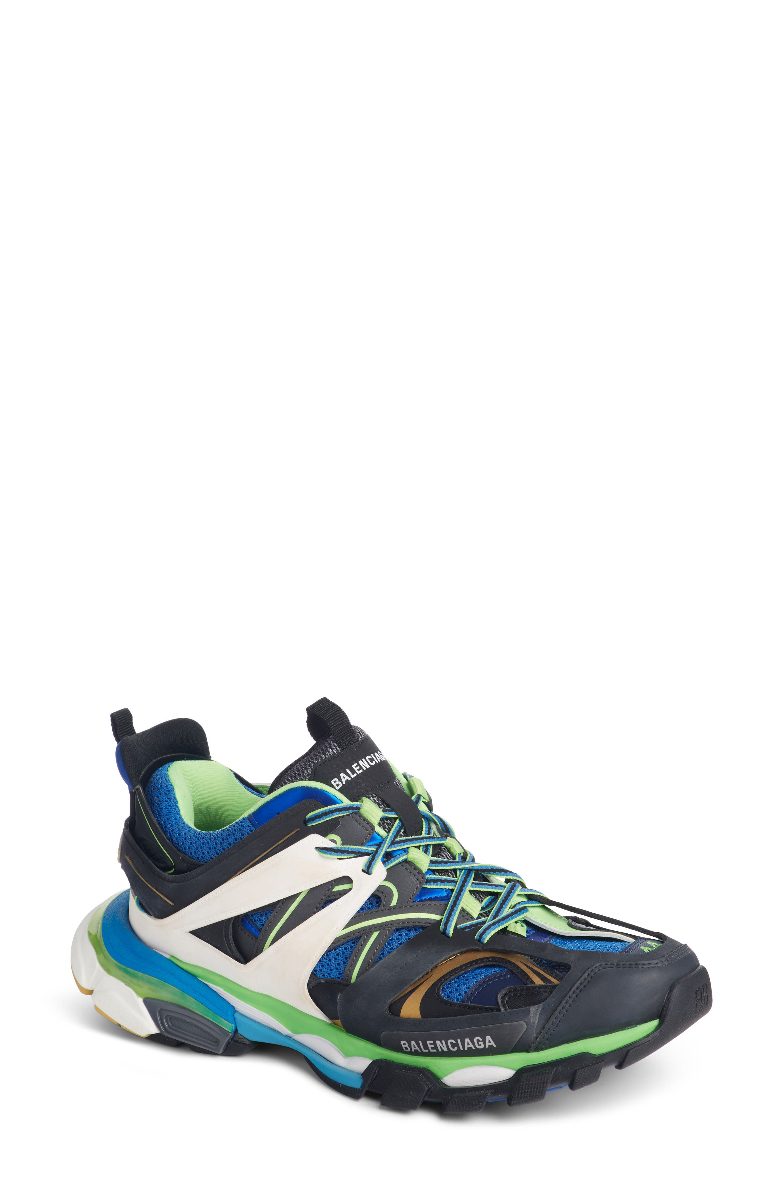 Track Sneaker,                         Main,                         color, BLUE/ GREEN