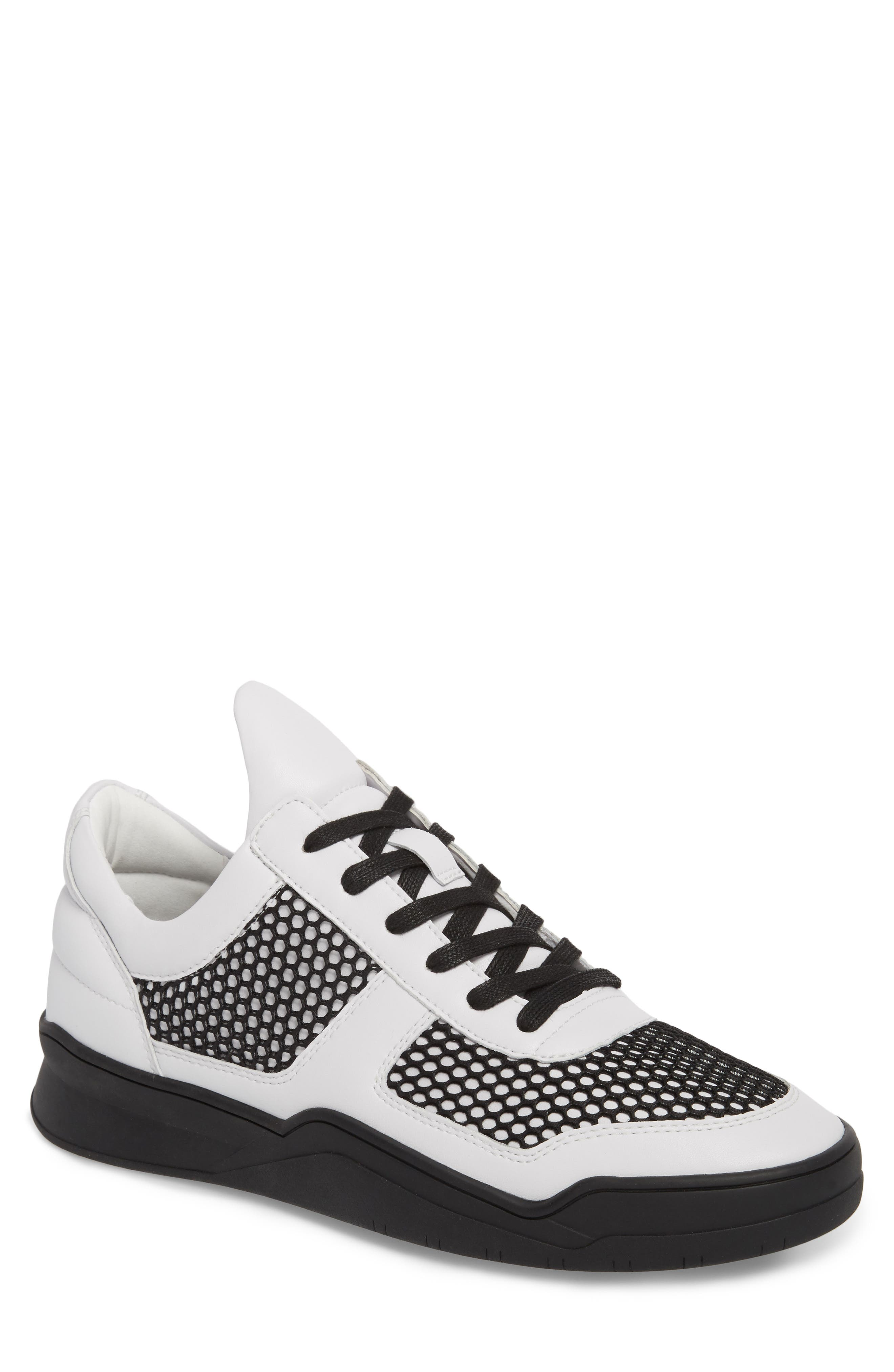 Low-Top Sneaker,                         Main,                         color, BLACK/WHITE