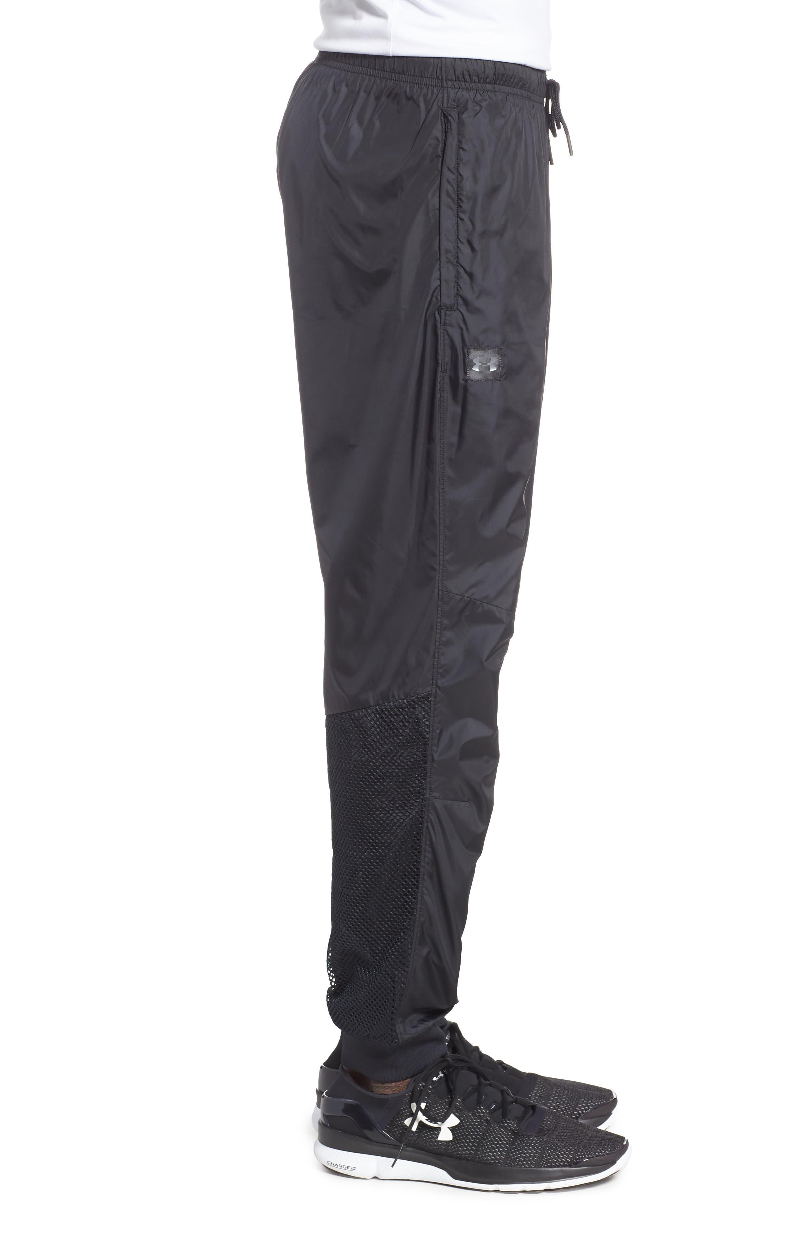 UNDER ARMOUR,                             Sportstyle Wind Pants,                             Alternate thumbnail 3, color,                             BLACK