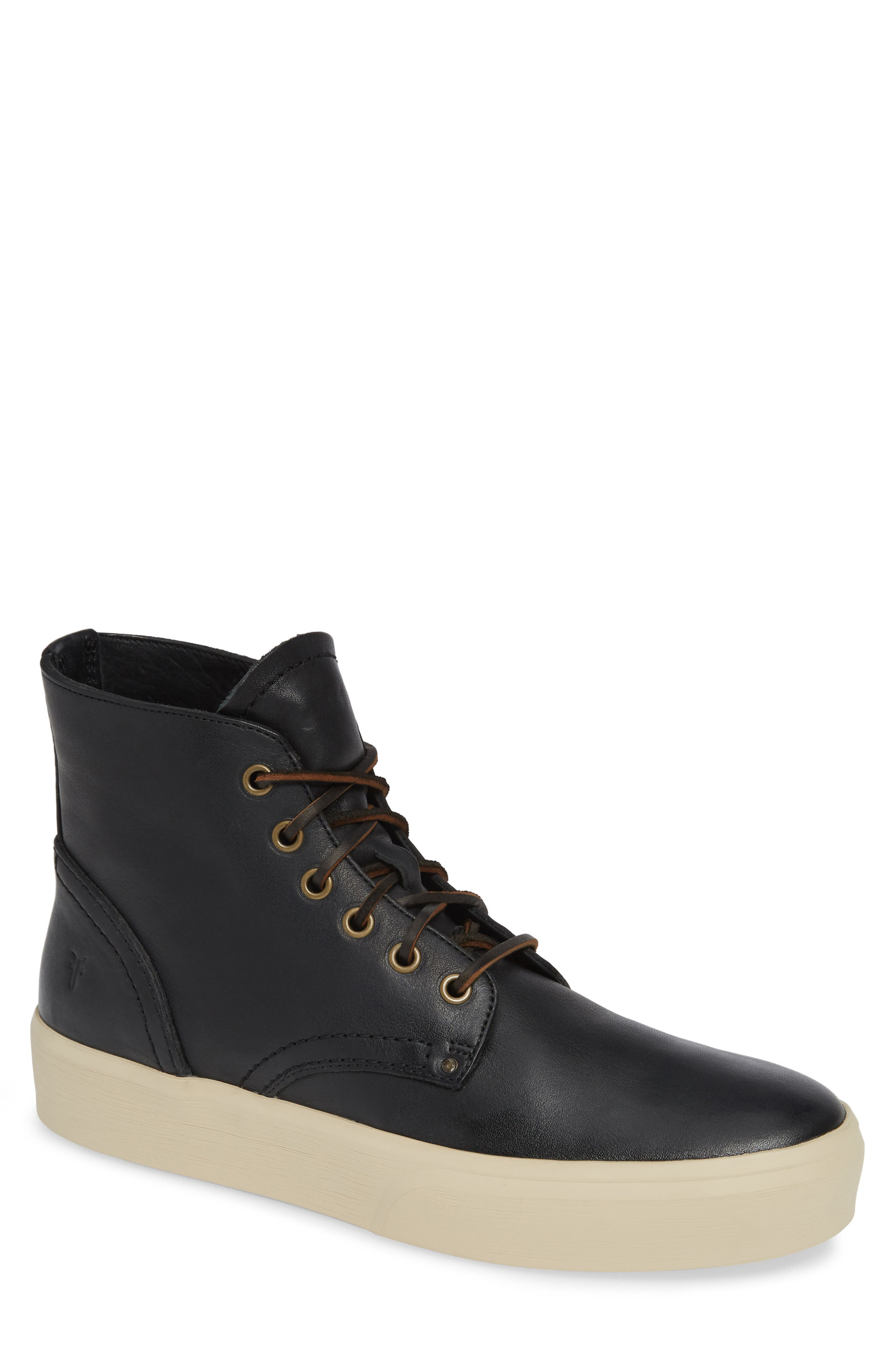Beacon High Top Platform Sneaker,                         Main,                         color, BLACK
