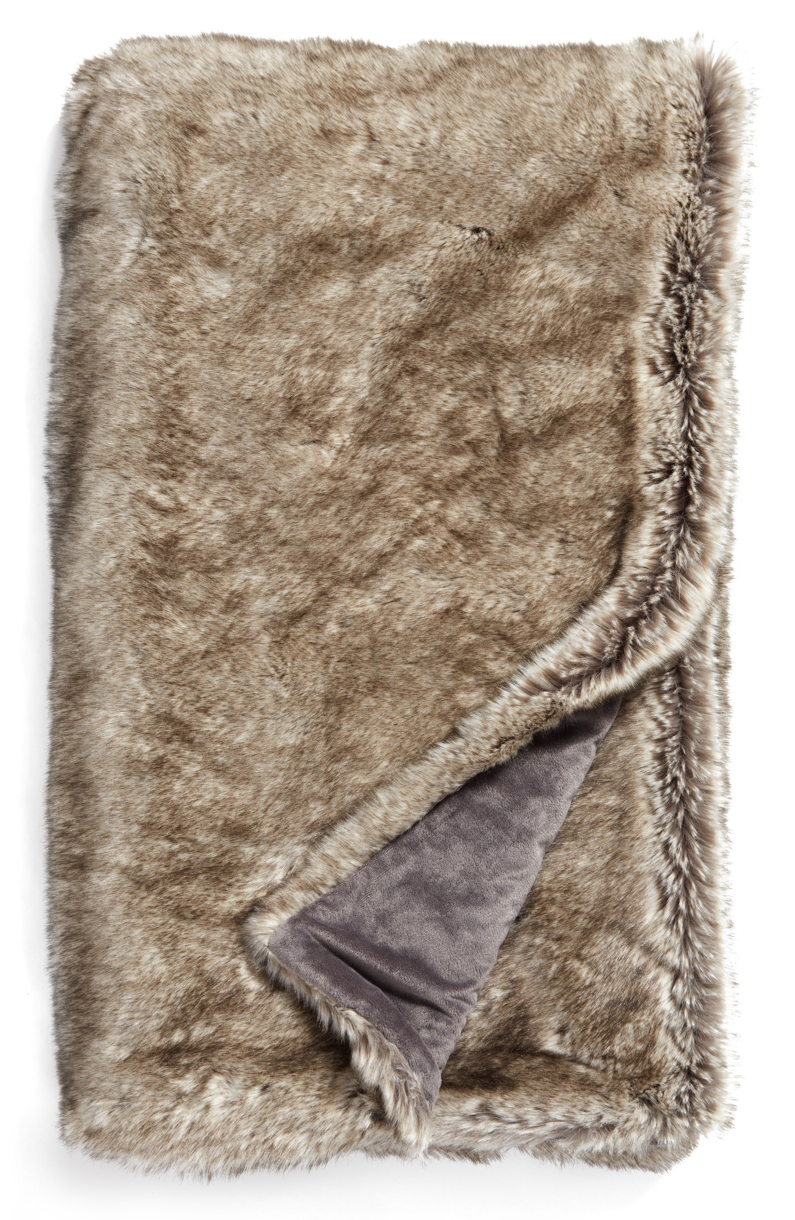 Cuddle Up Faux Fur Throw Blanket,                             Main thumbnail 10, color,