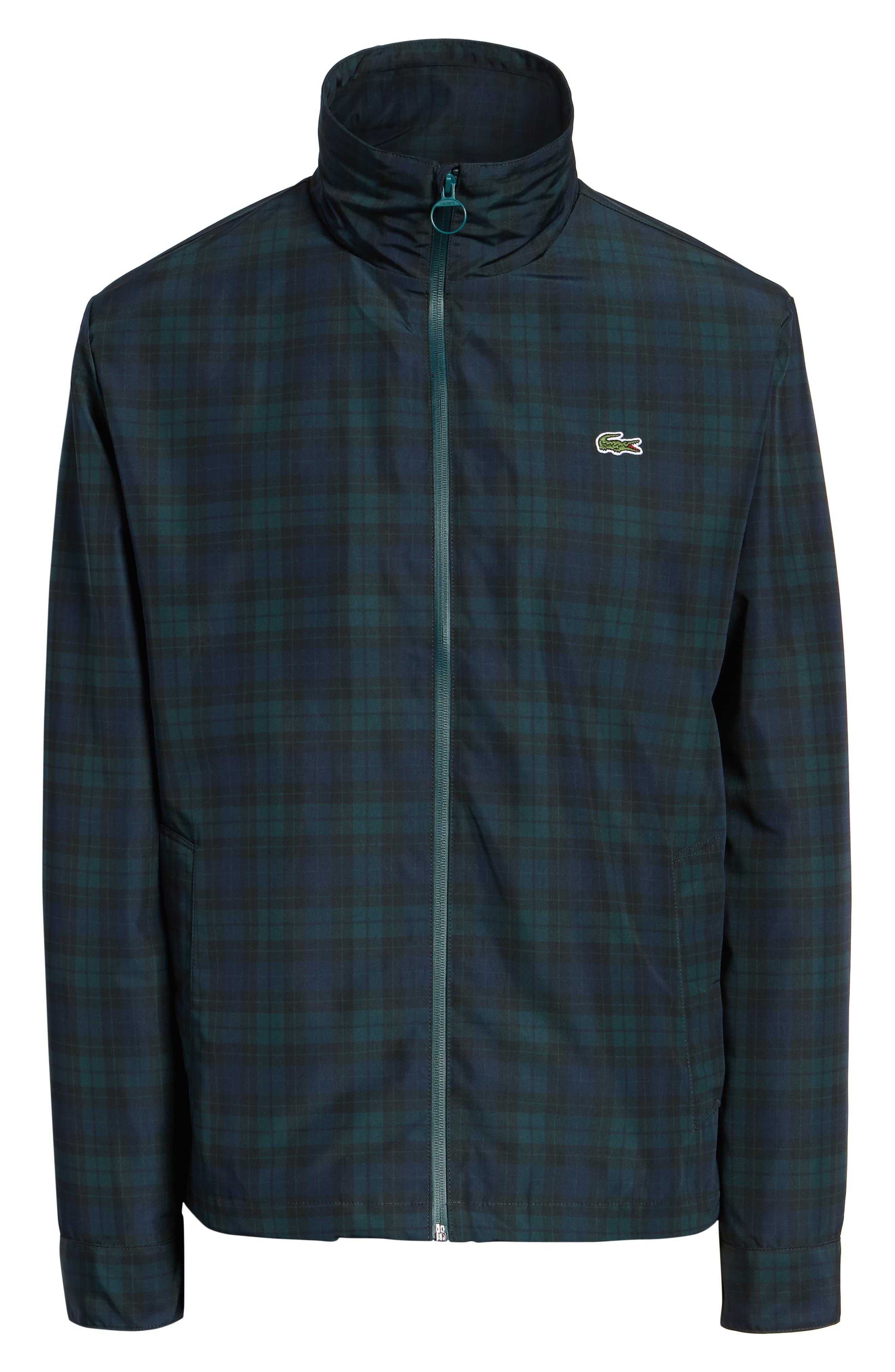 Regular Fit Check Windbreaker Jacket,                             Alternate thumbnail 6, color,                             NAVY BLUE/ SINOPLE BLACK