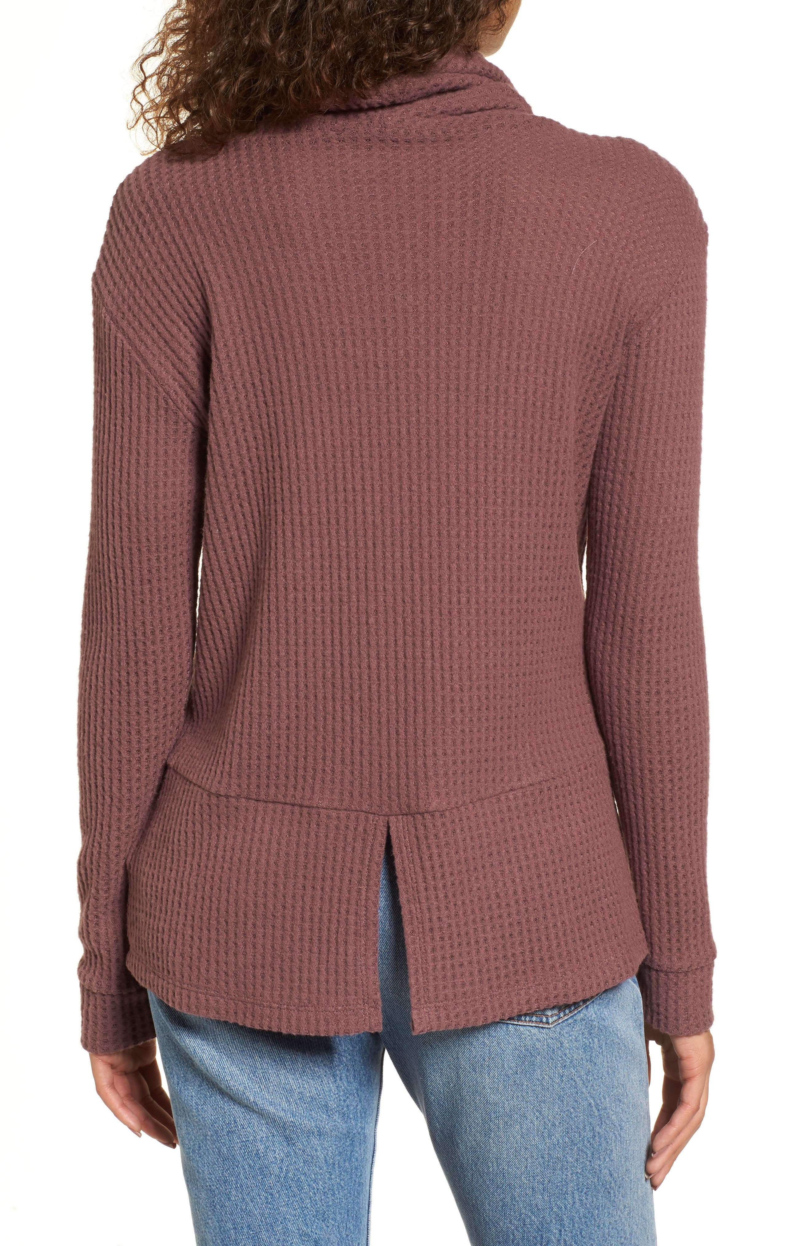 Cowl Neck Waffle Knit Top,                             Alternate thumbnail 8, color,