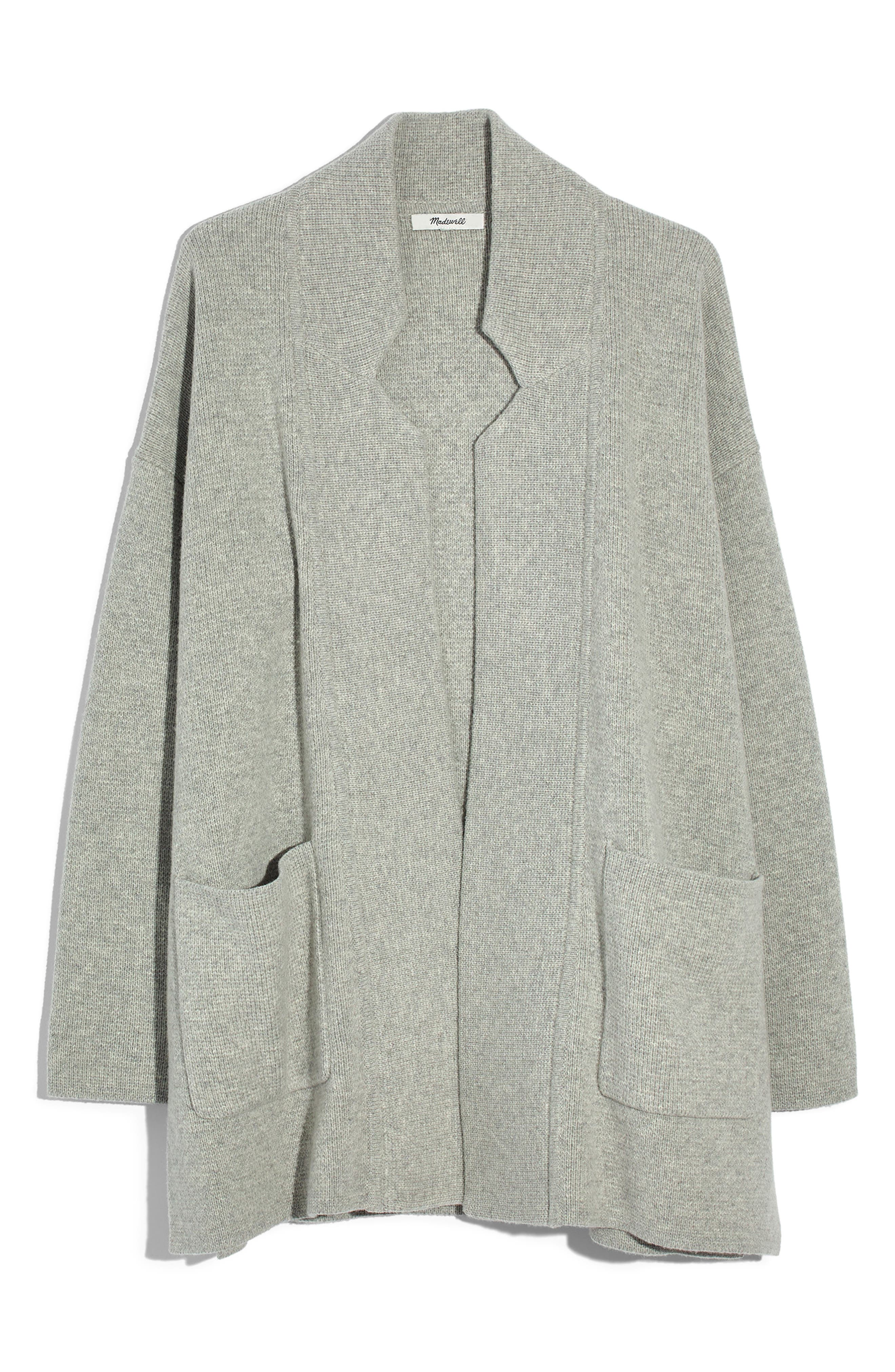 Spencer Sweater Coat,                         Main,                         color, HEATHER PEBBLE