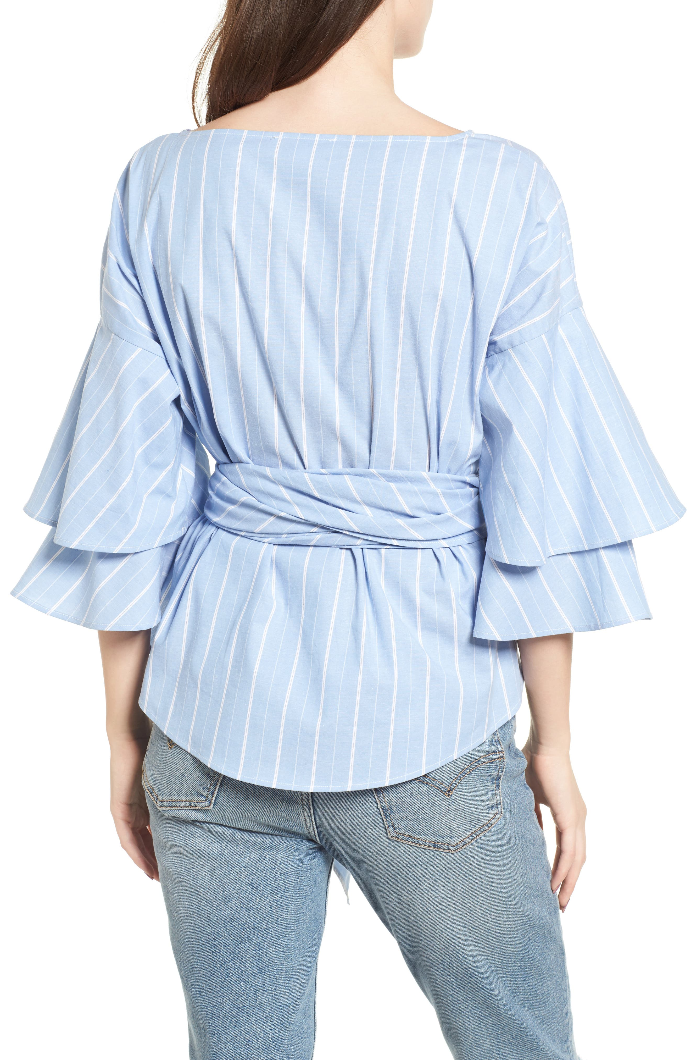 Beckett Tiered Bell Sleeve Top,                             Alternate thumbnail 11, color,