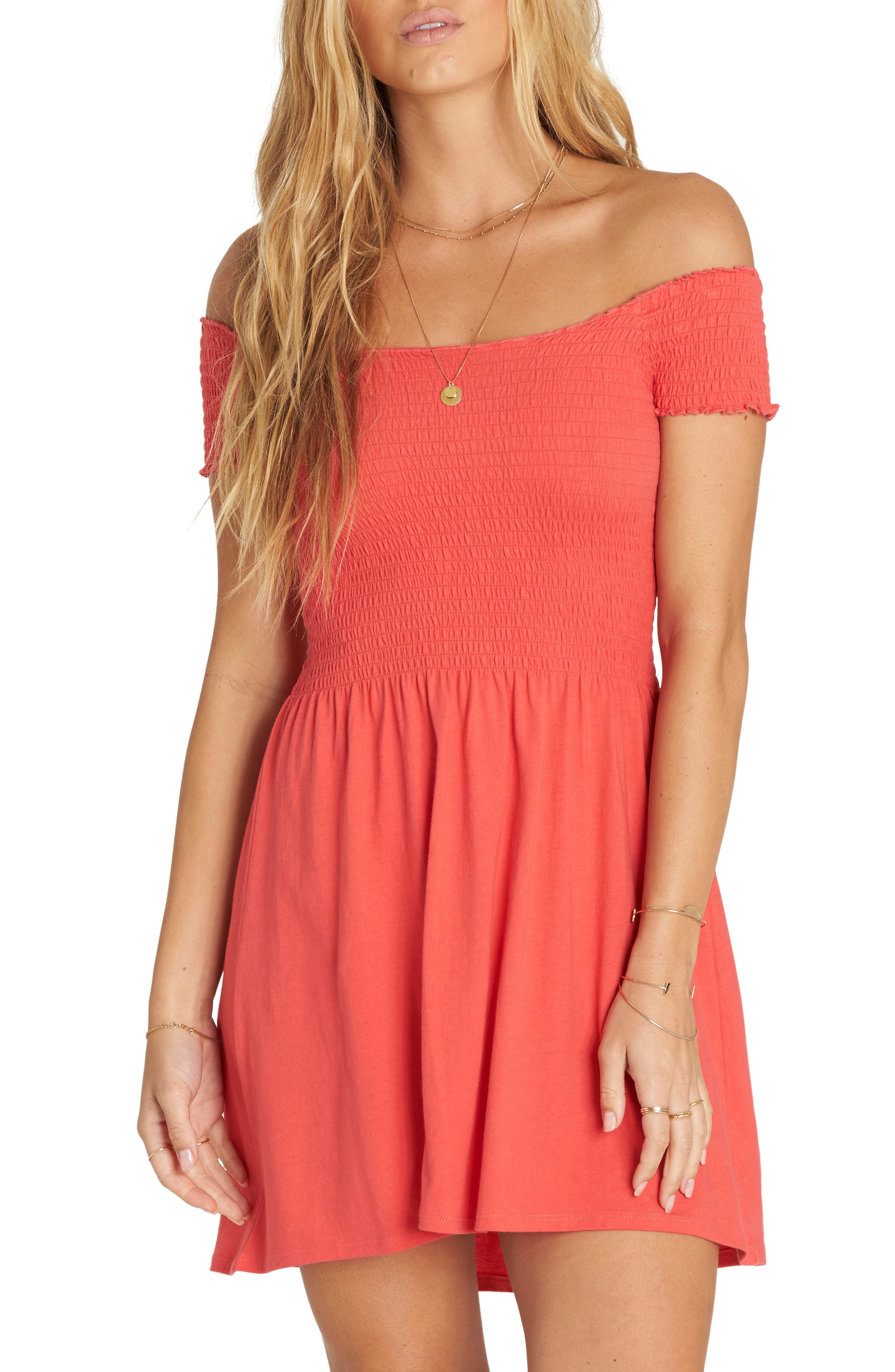 Off Beach Off the Shoulder Babydoll Dress,                             Main thumbnail 2, color,