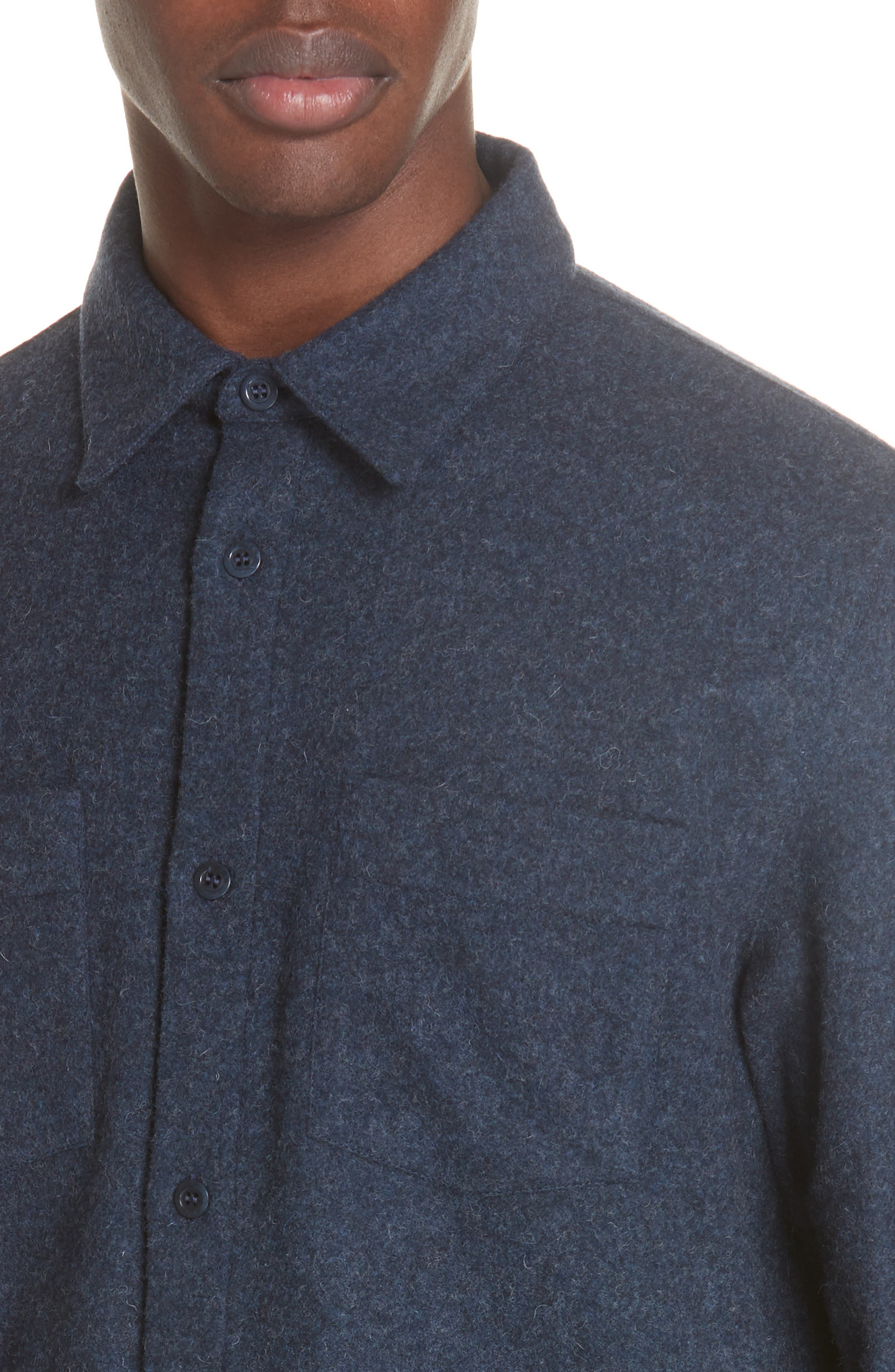 Surchemise Joe Wool Shirt,                             Alternate thumbnail 2, color,                             MARINE CHINE PIA