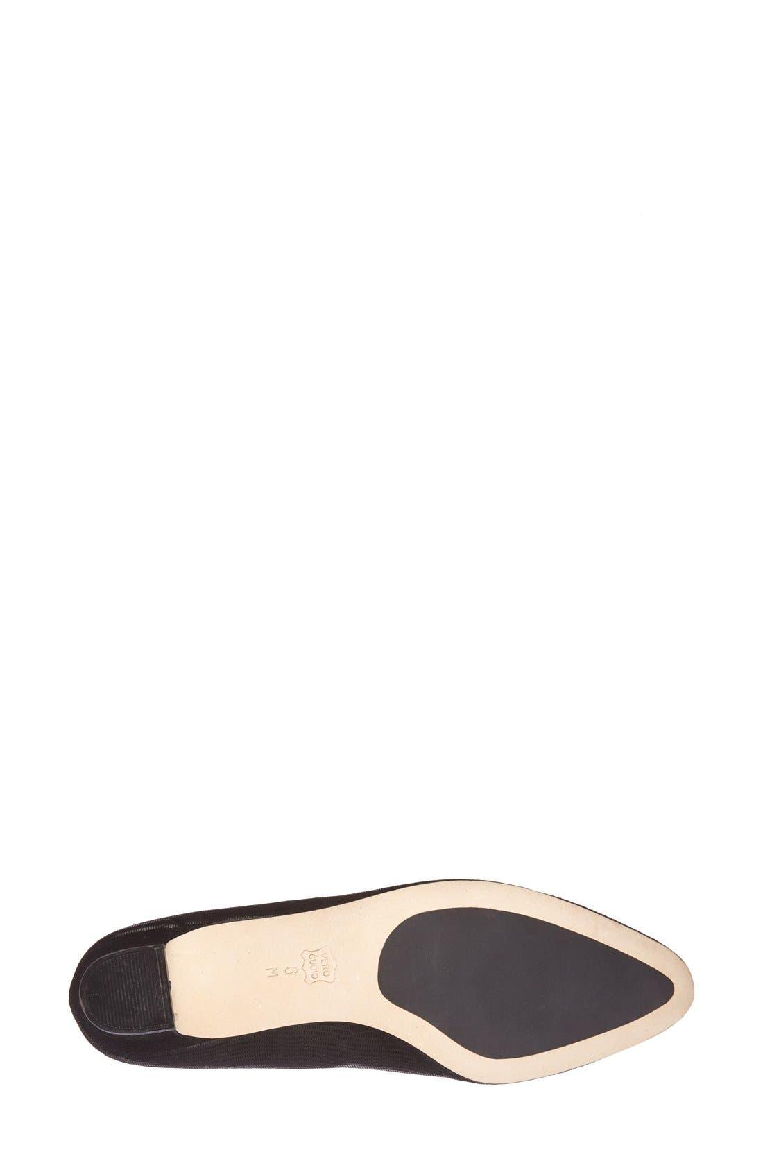 'Astyr' Almond Toe Pump,                             Alternate thumbnail 4, color,                             BLACK MINI LIZARD PRINT