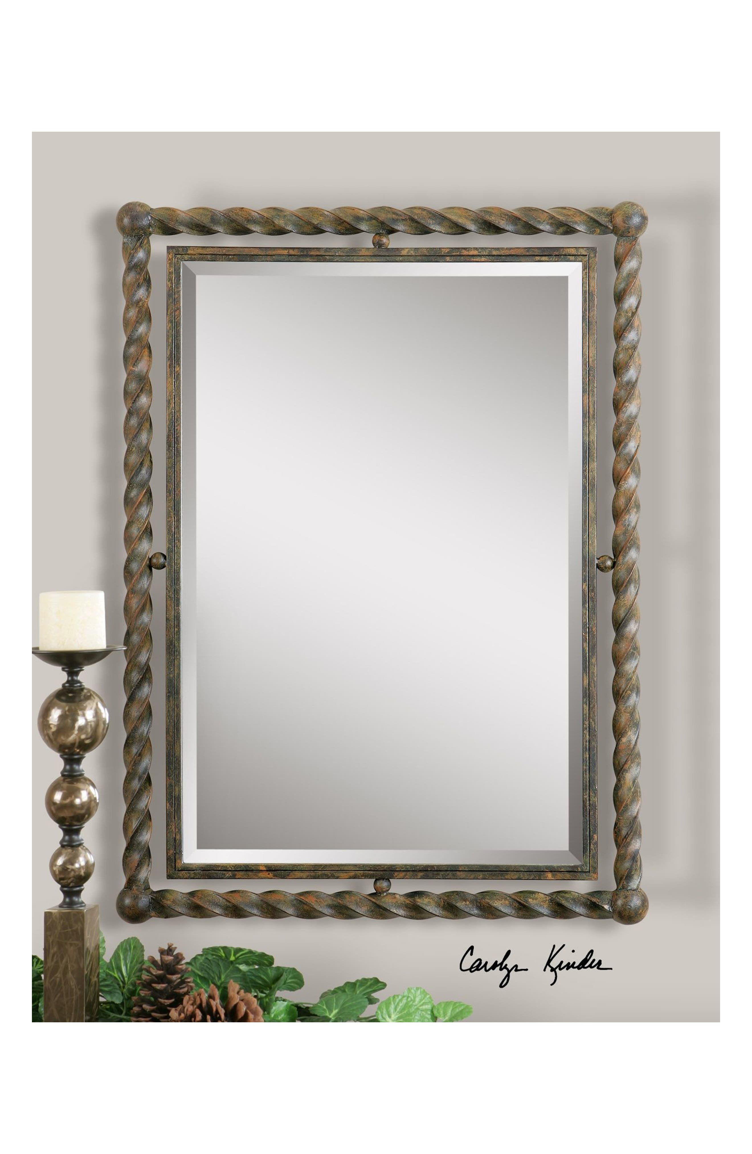 'Garrick' Wrought Iron Mirror,                             Alternate thumbnail 2, color,                             200