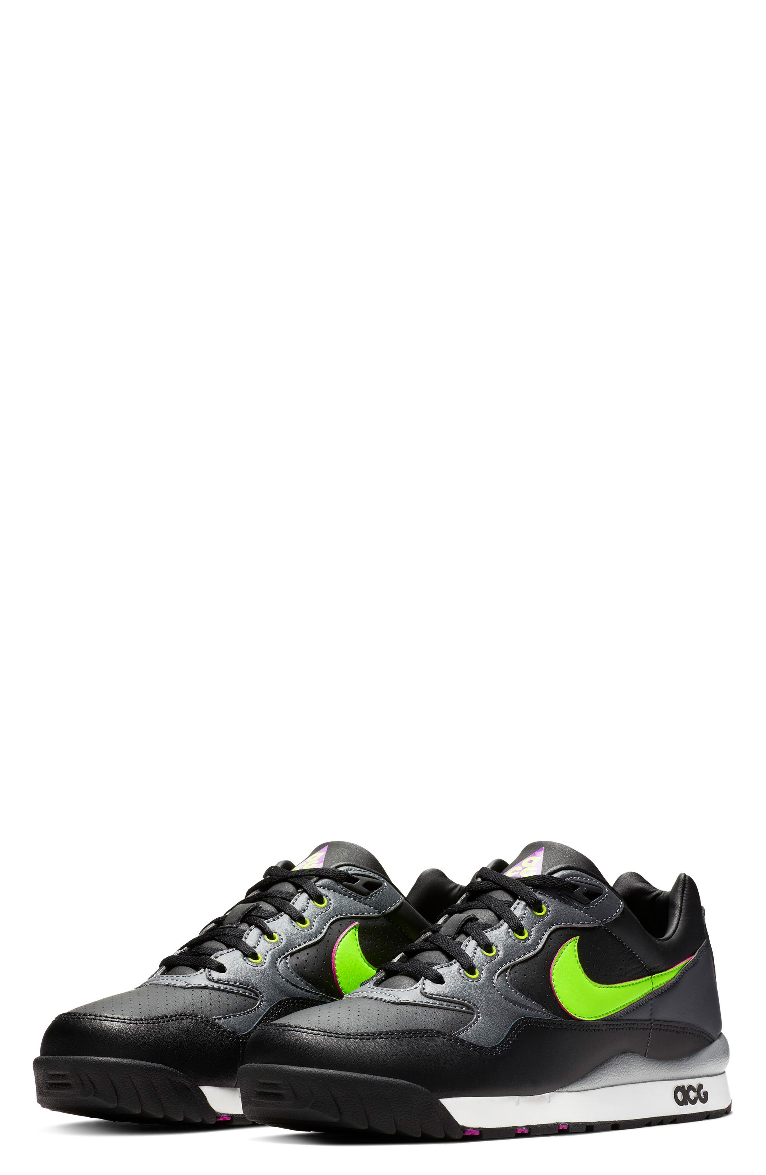 NIKE,                             Air Wildwood ACG Sneaker,                             Main thumbnail 1, color,                             BLACK/ ELECTRIC GREEN/ VIOLET