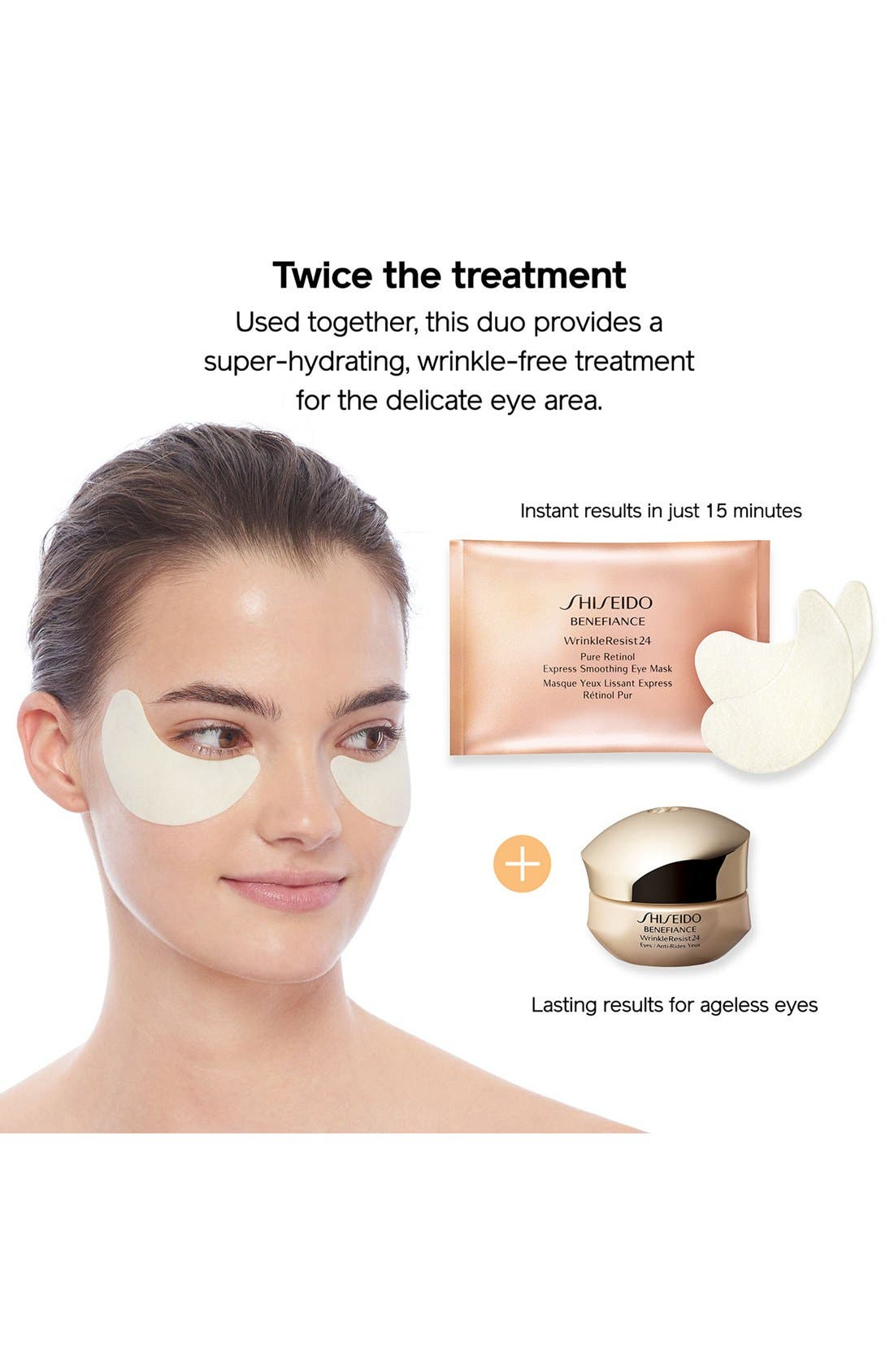 Benefiance WrinkleResist24 Pure Retinol Express Smoothing Eye Mask,                             Alternate thumbnail 5, color,                             NO COLOR