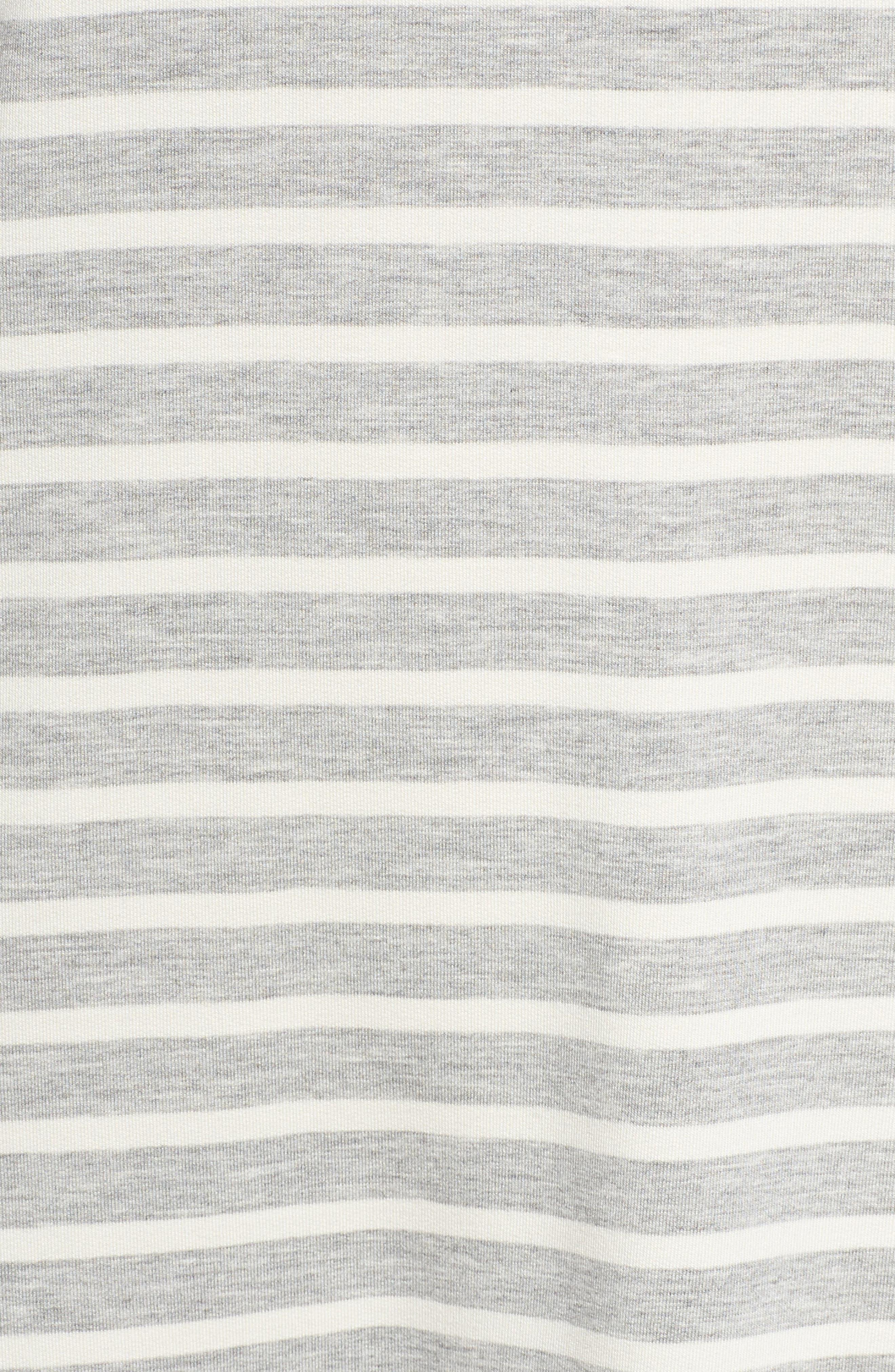 Adelene Stripe Knit Shift Dress,                             Alternate thumbnail 5, color,                             050