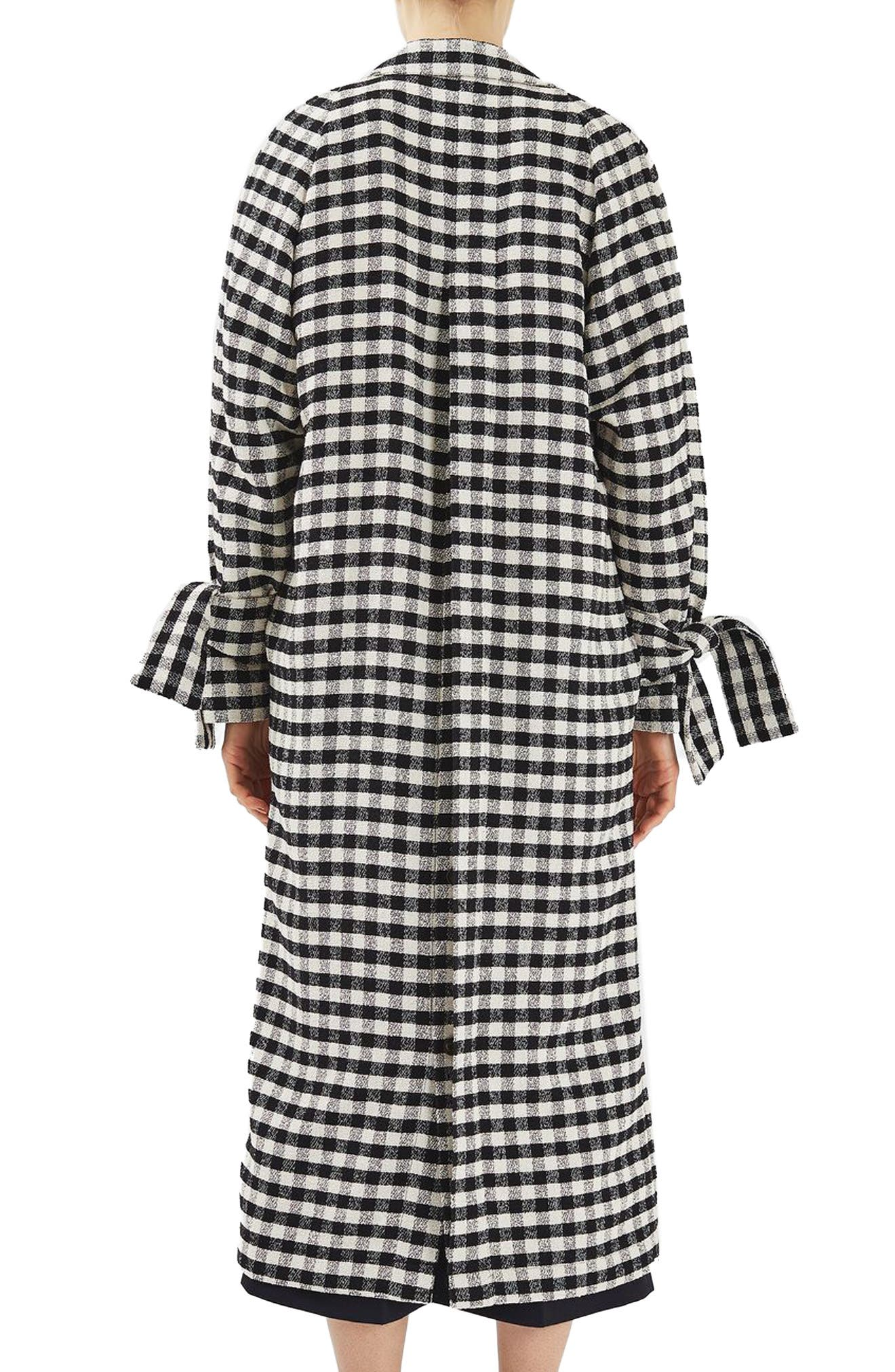 Gingham Duster Coat,                             Alternate thumbnail 2, color,                             001