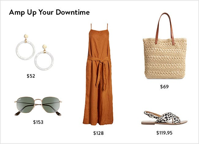 Amp up your downtime: women's weekend clothing, shoes and accessories.