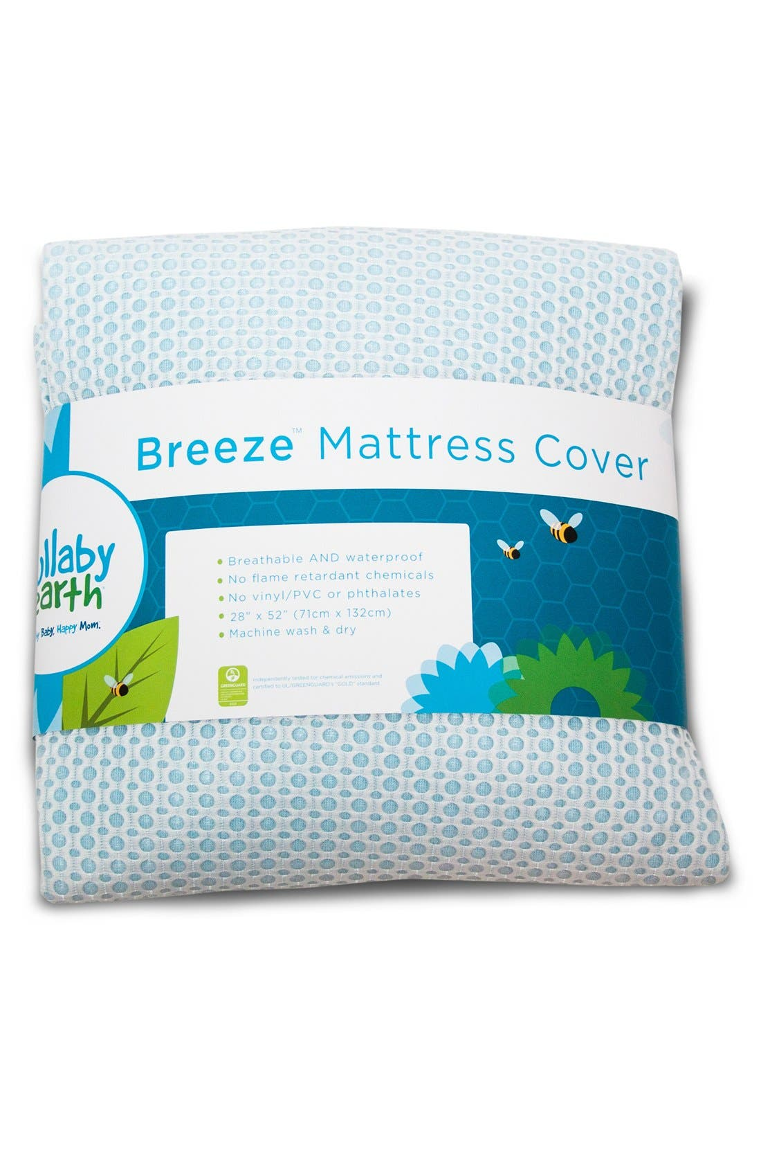 'Breeze' Waterproof Crib Mattress Cover,                             Main thumbnail 1, color,                             401