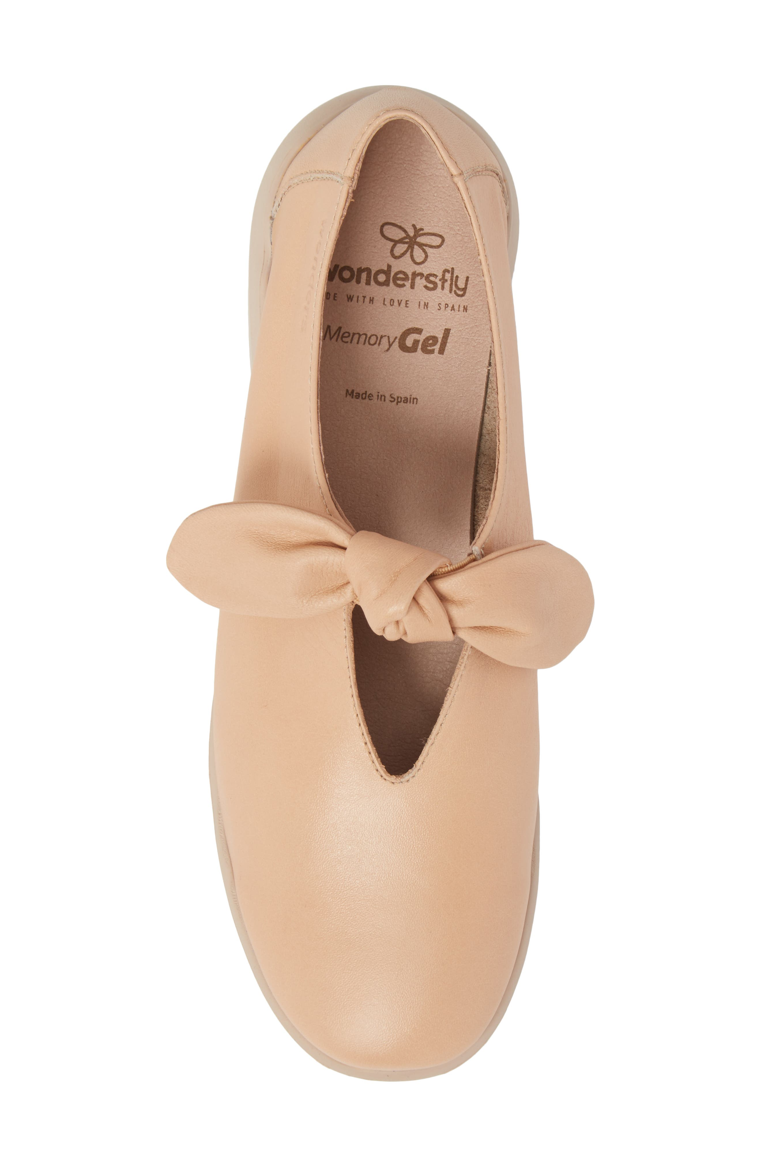 Knotted Mary Jane Flat,                             Alternate thumbnail 5, color,                             PALO BEIGE LEATHER