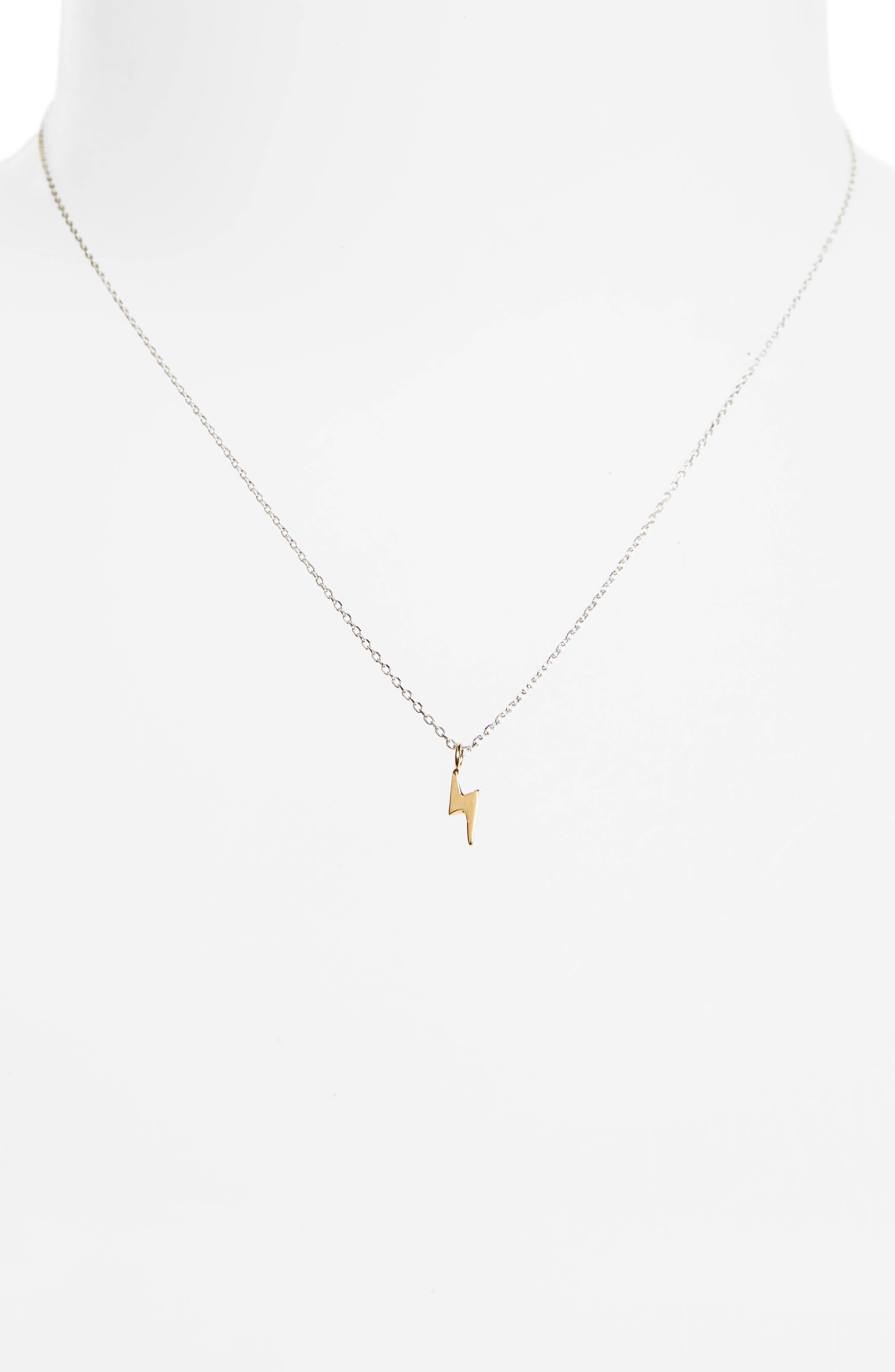Vermeil Pendant Necklace,                             Alternate thumbnail 2, color,                             LIGHTENING/ GOLD