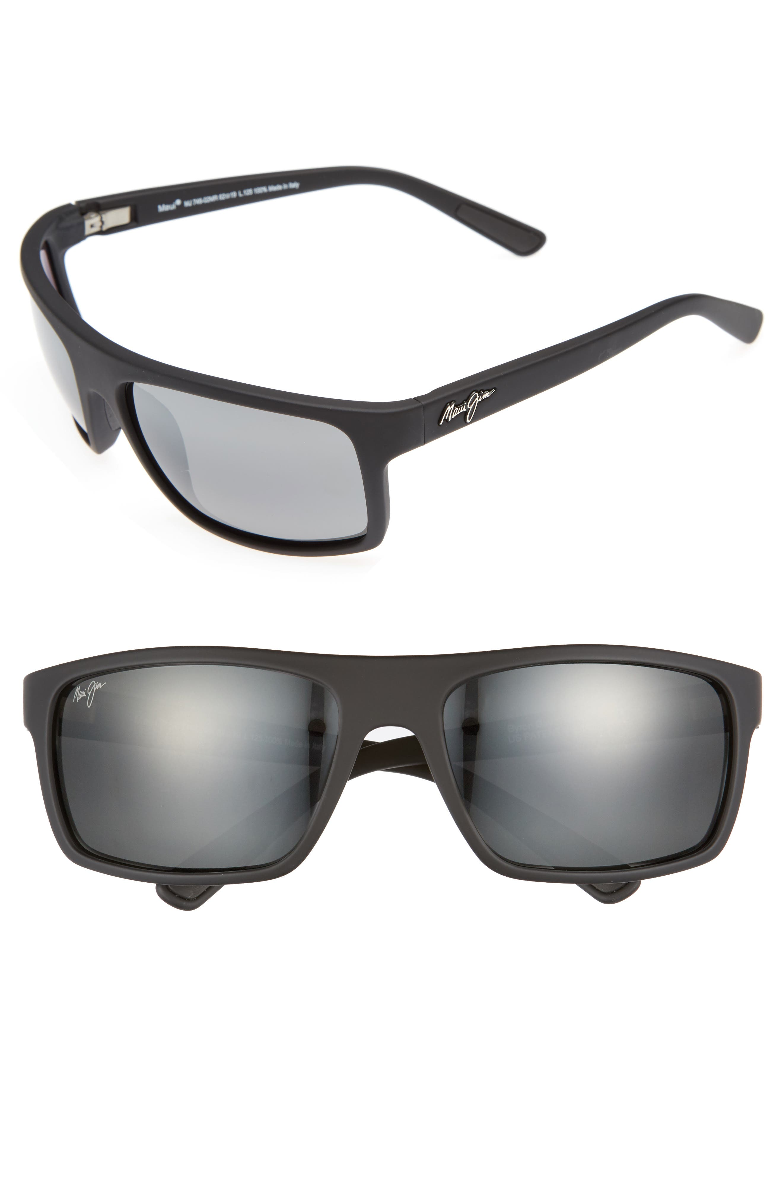Maui Jim Byron Bay 62Mm Polarized Sunglasses - Matte Black/ Neutral Grey